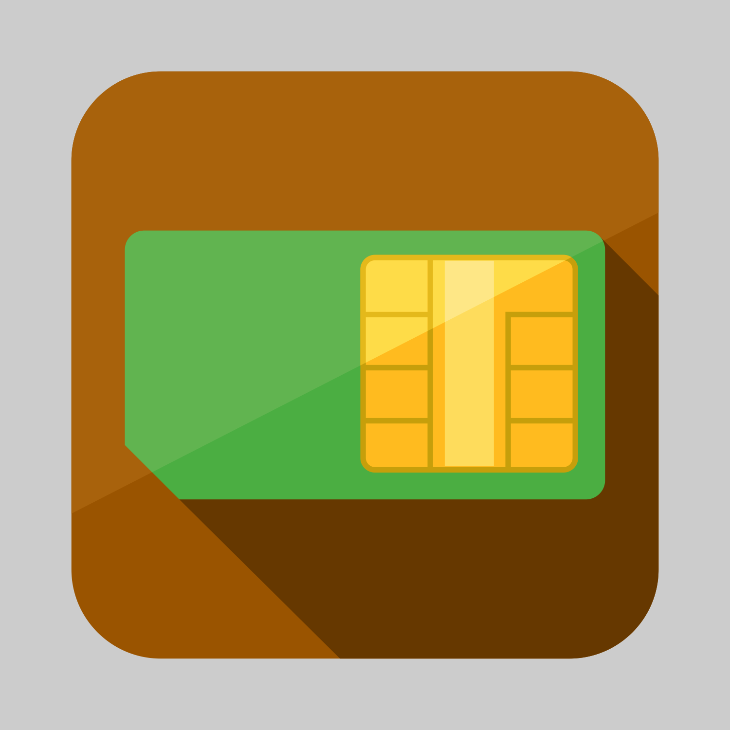 SIM card icon or button