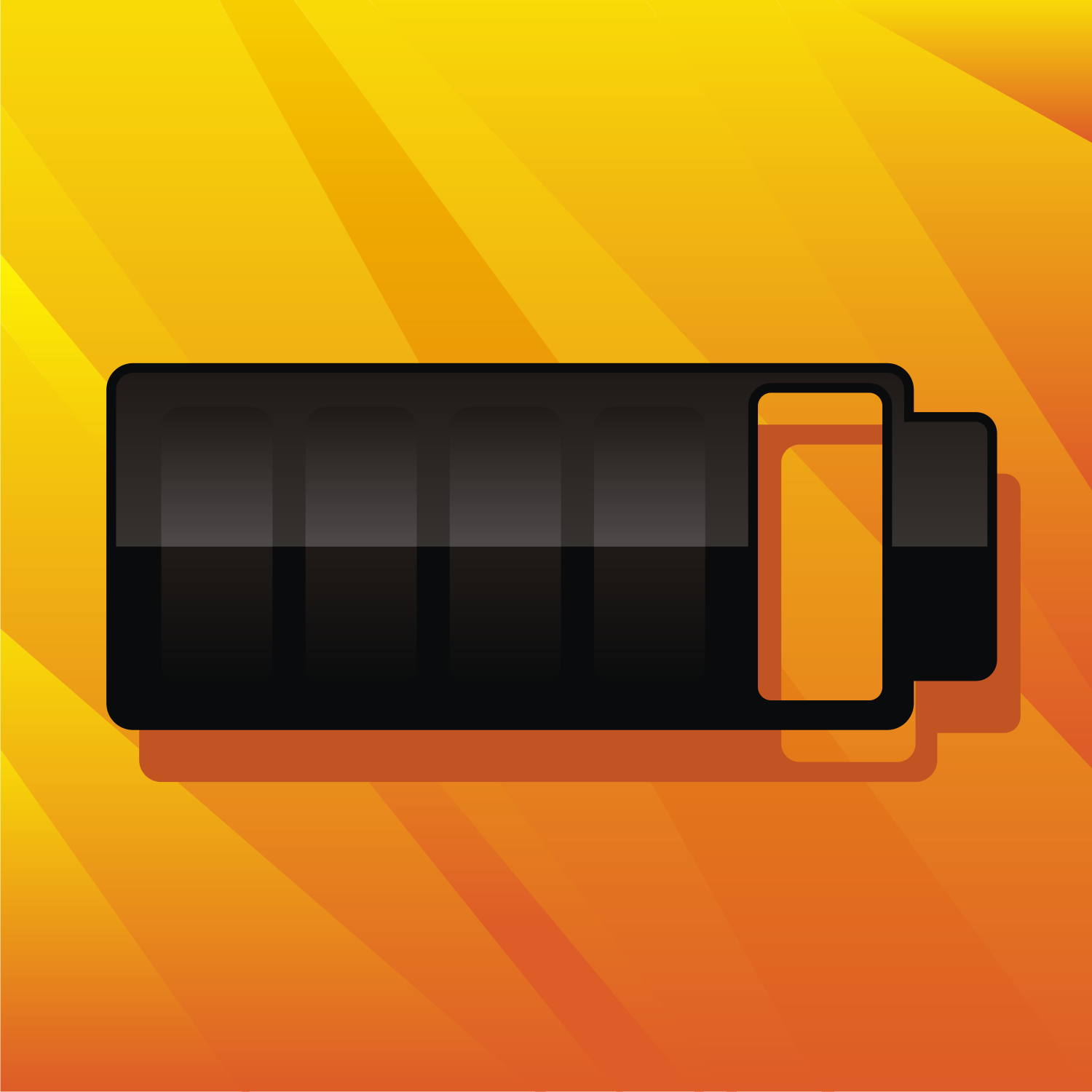 Black mobile phone battery. Free vector image