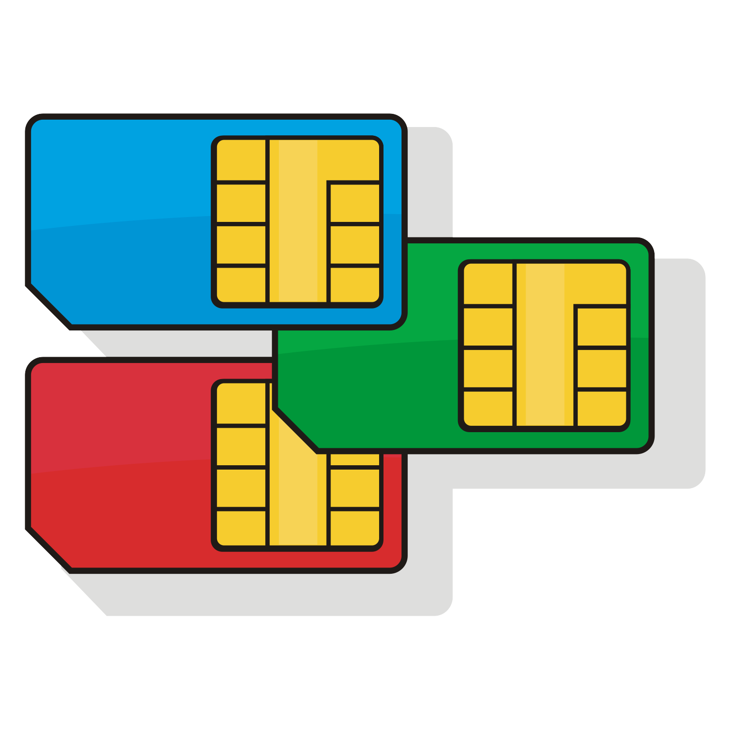 SIM cards. Vector illustration.