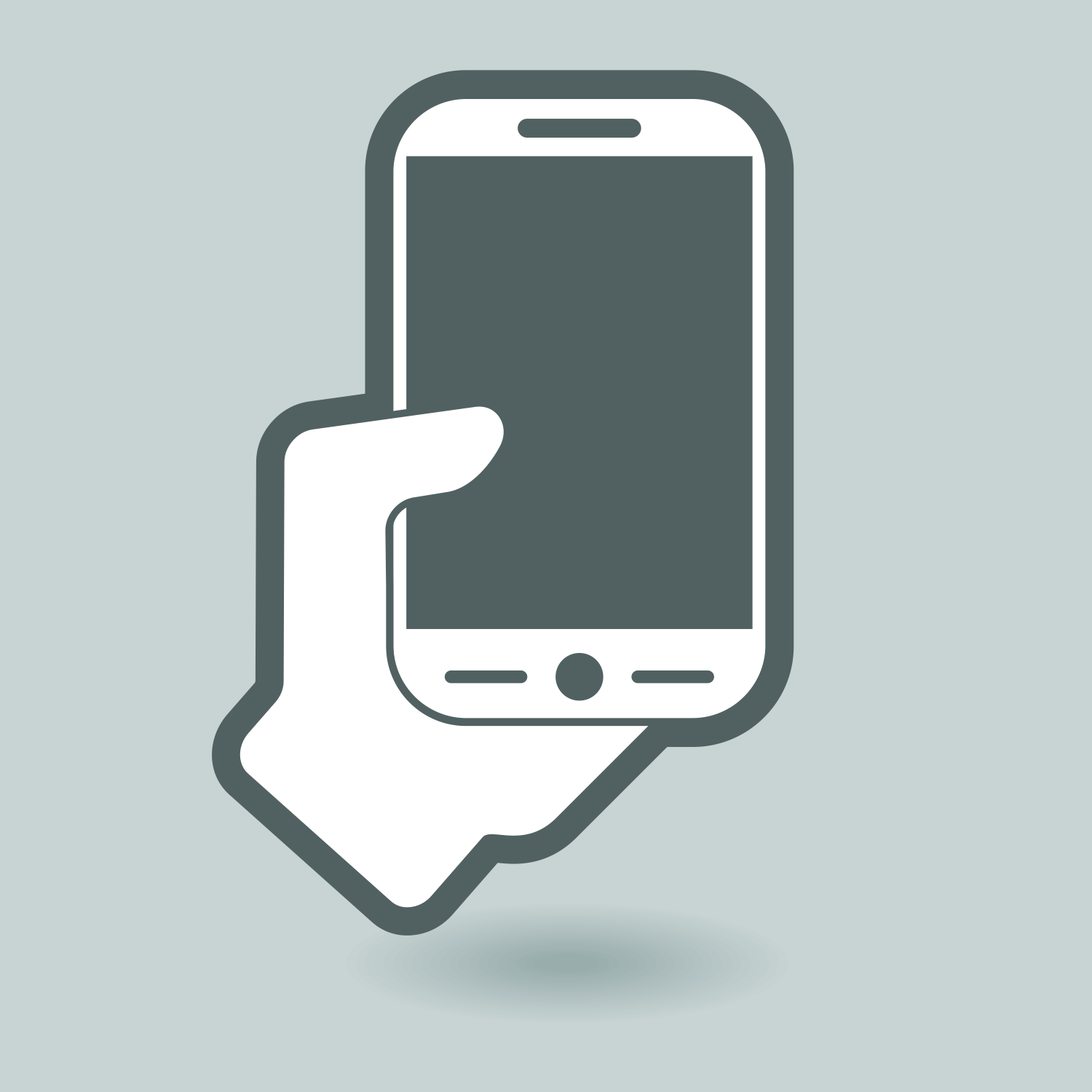 Vector For Free Use Smartphone In Hand Vector