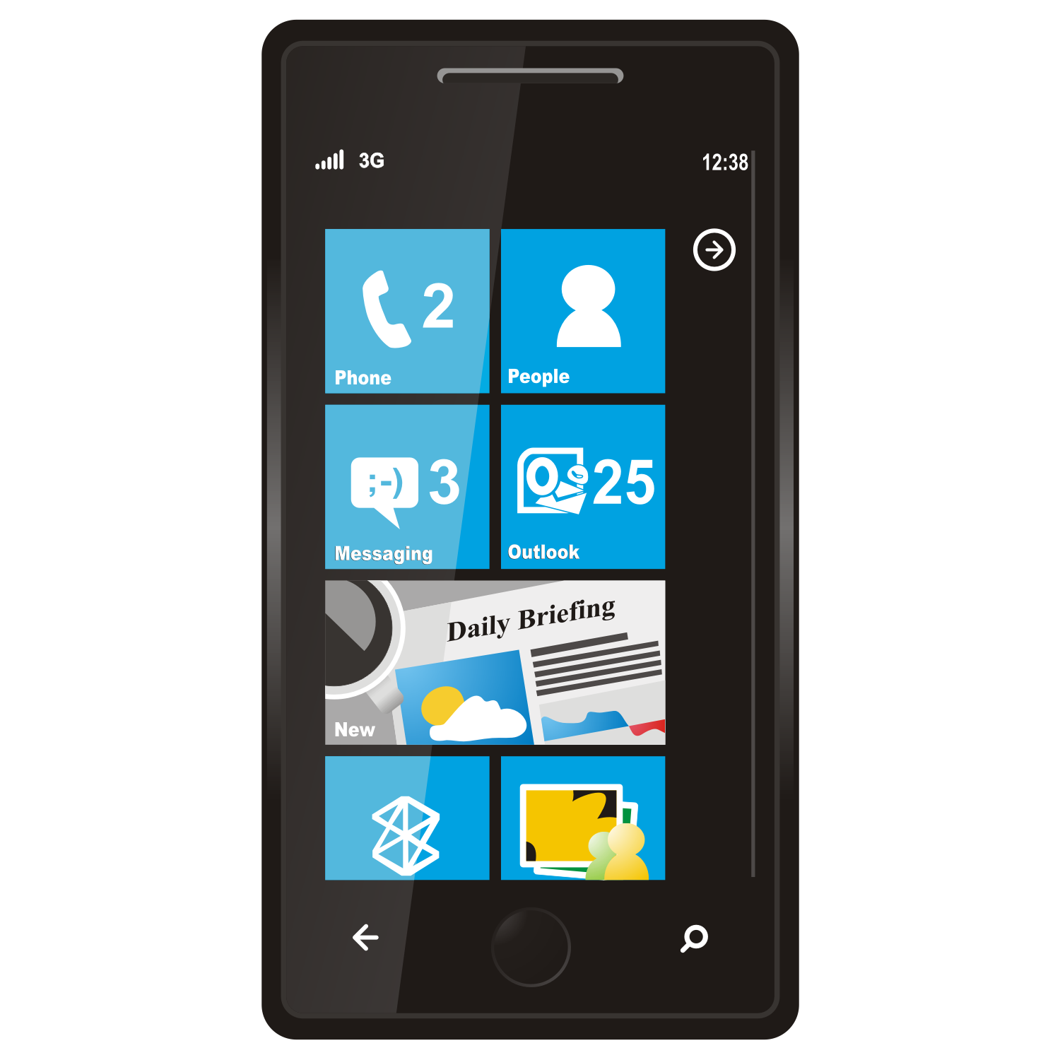 Vector for free use windows phone 7 for Windows phone