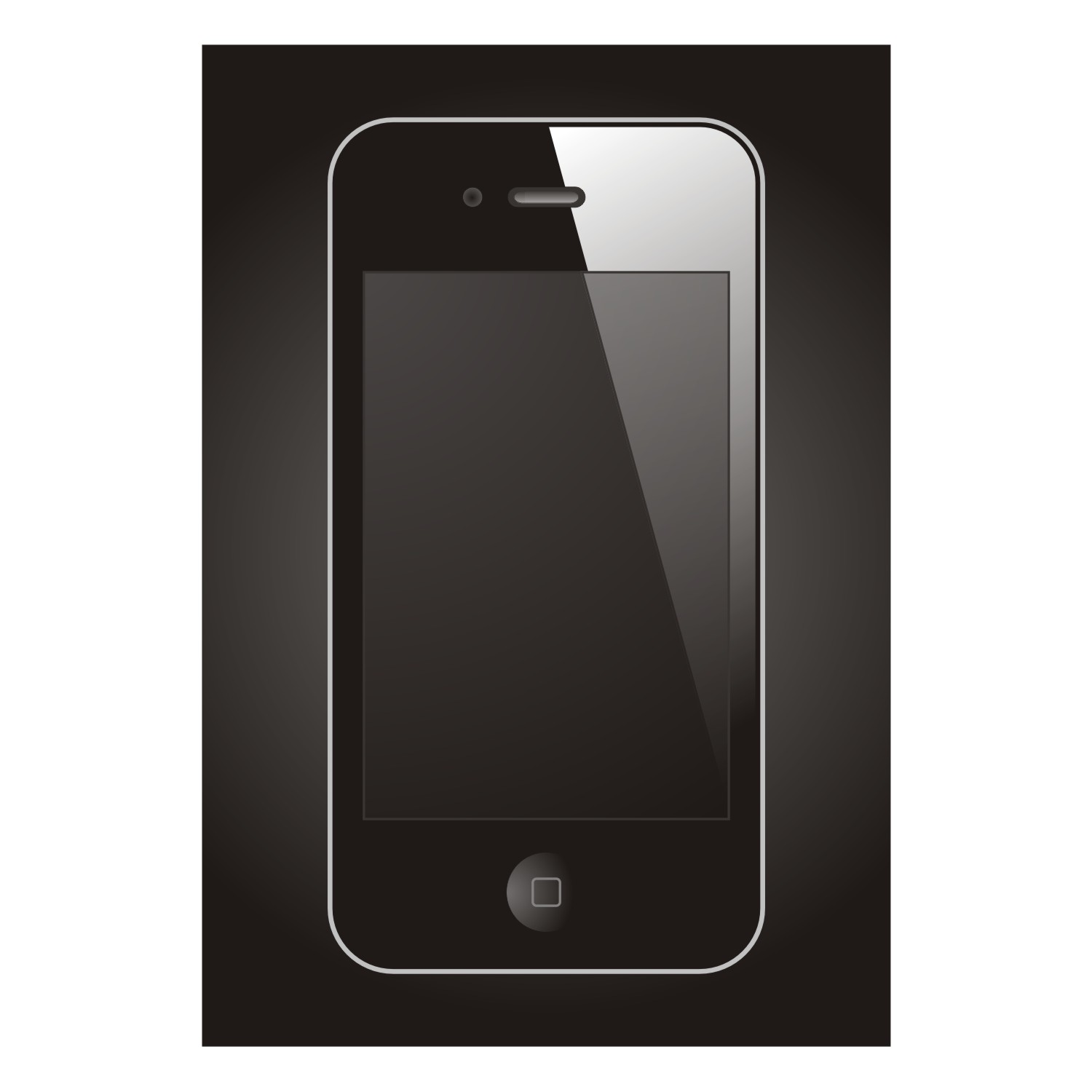 The luxury mobile device on black background
