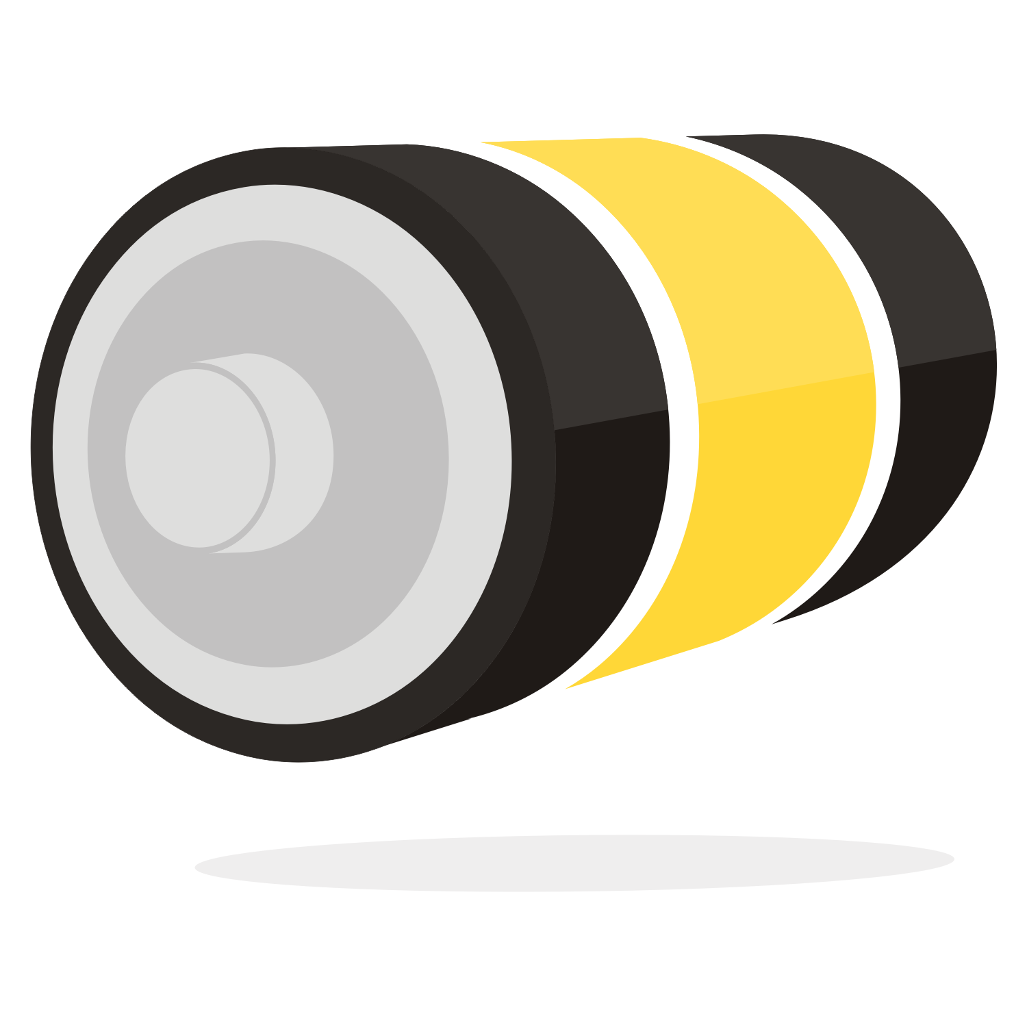 3D battery. Free vector illustration.