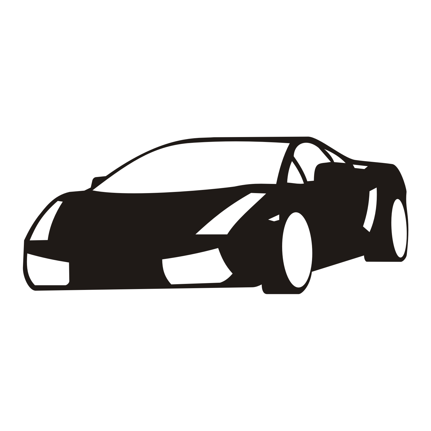 Vector For Free Use Black Car On White