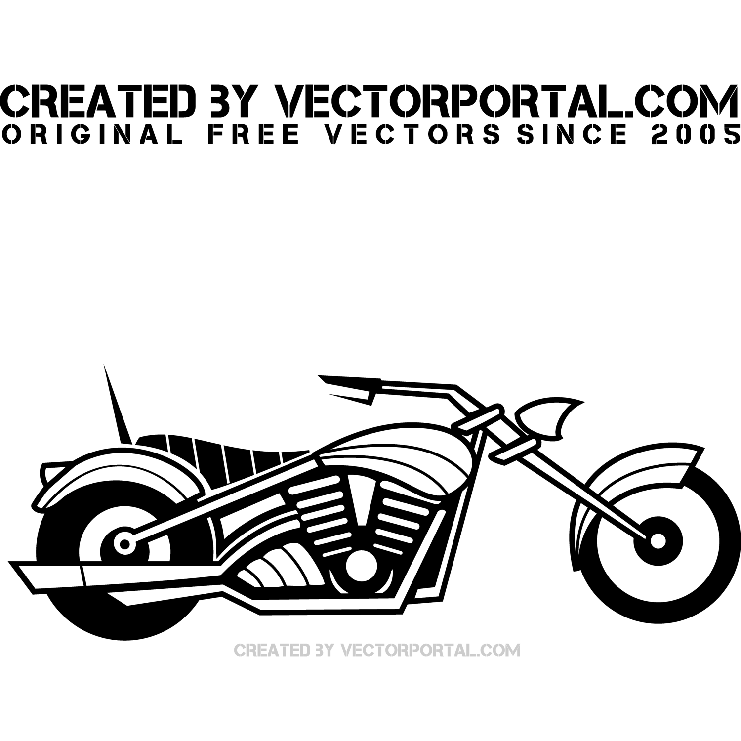 Vector illustration of a motorcycle