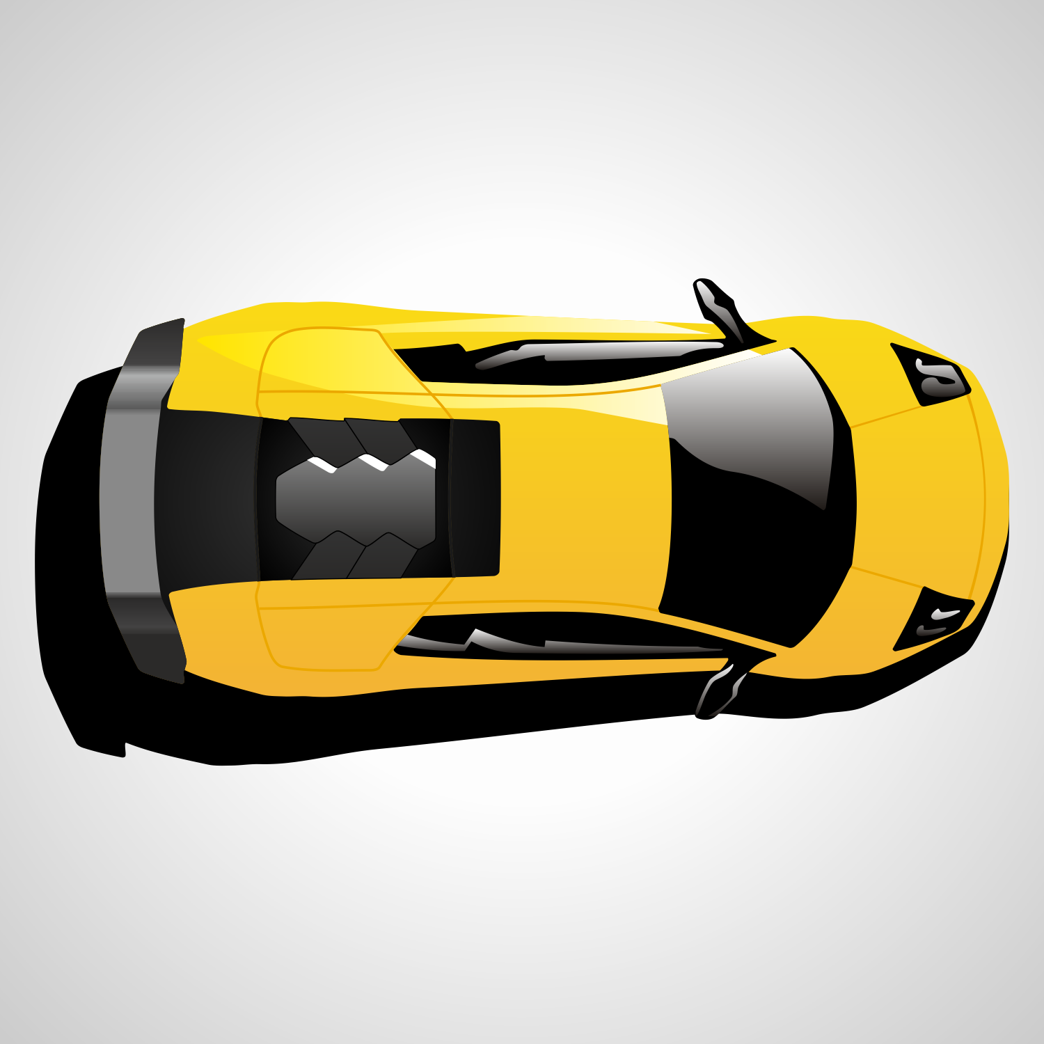 Vector For Free Use: Lamborghini Car Top View