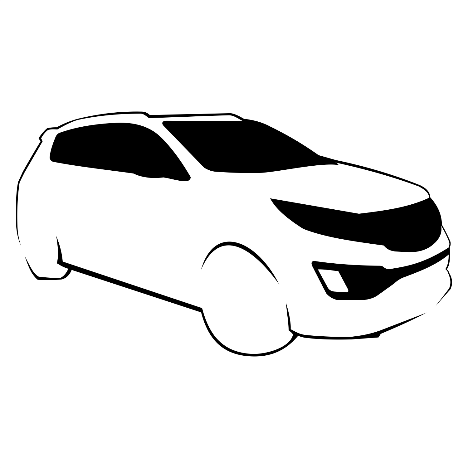 Vector for free use: Kia Sportage vector