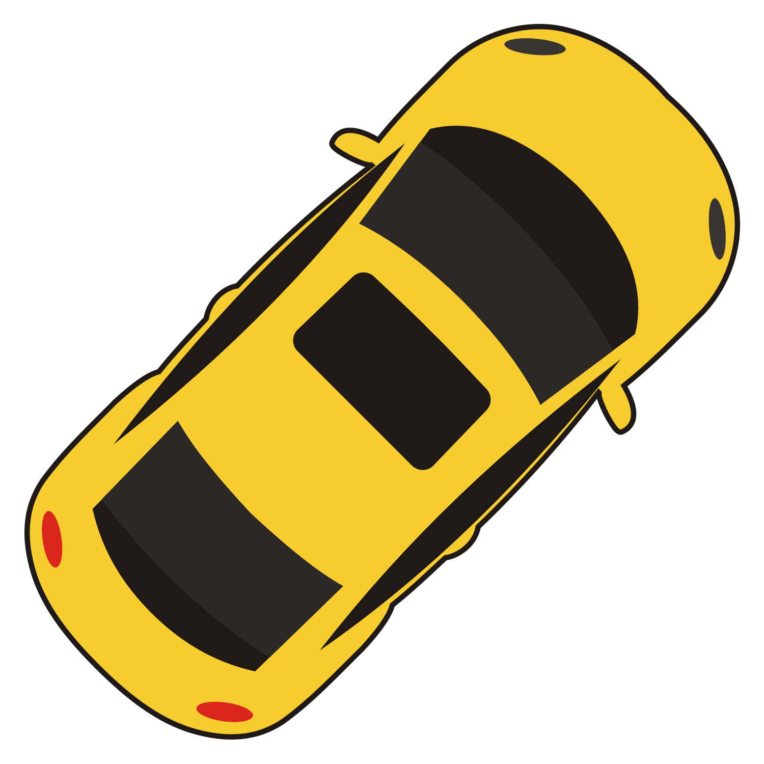 Vector For Free Use: Car Top View