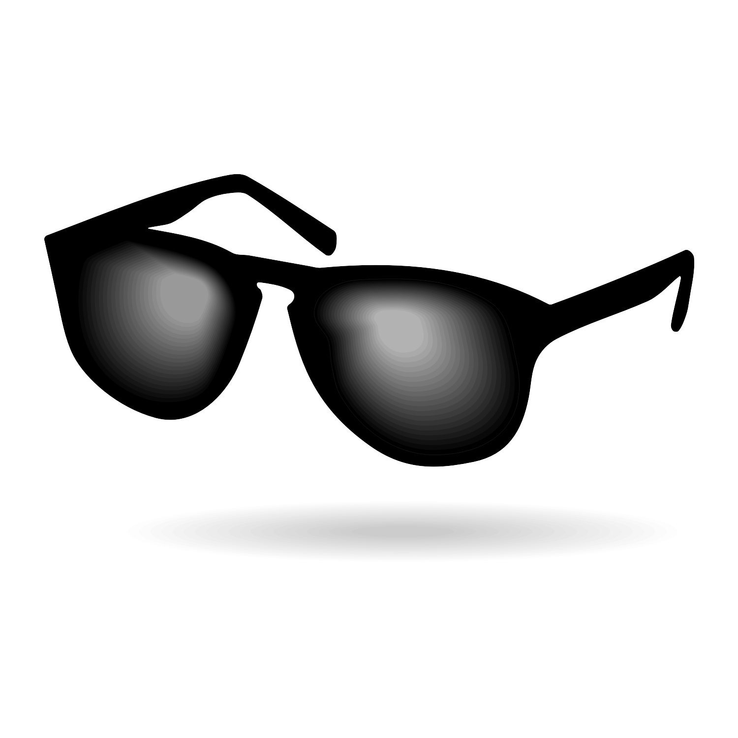 Vector for free use: Black glasses vector
