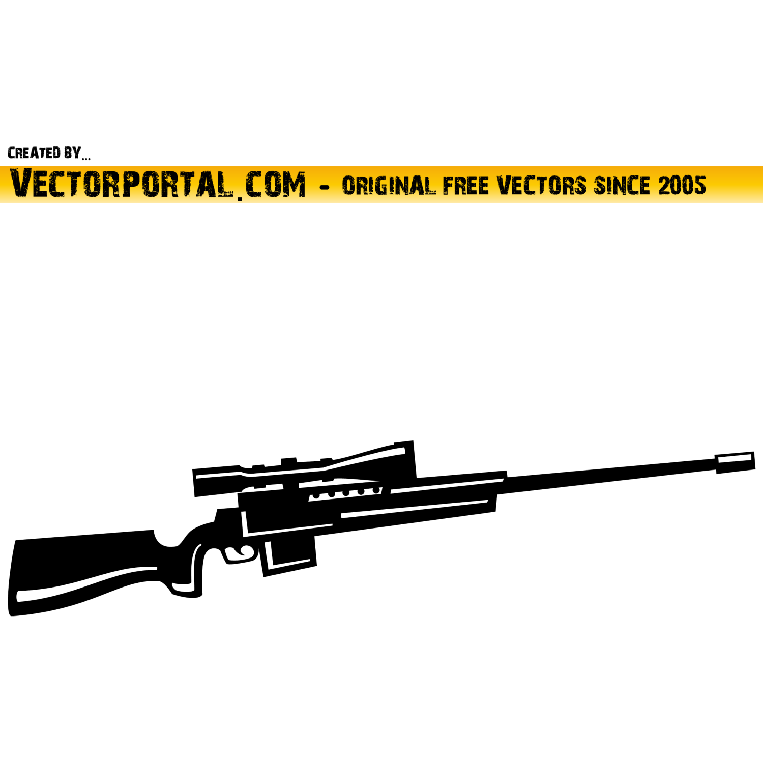 Sniper Weapon Vector