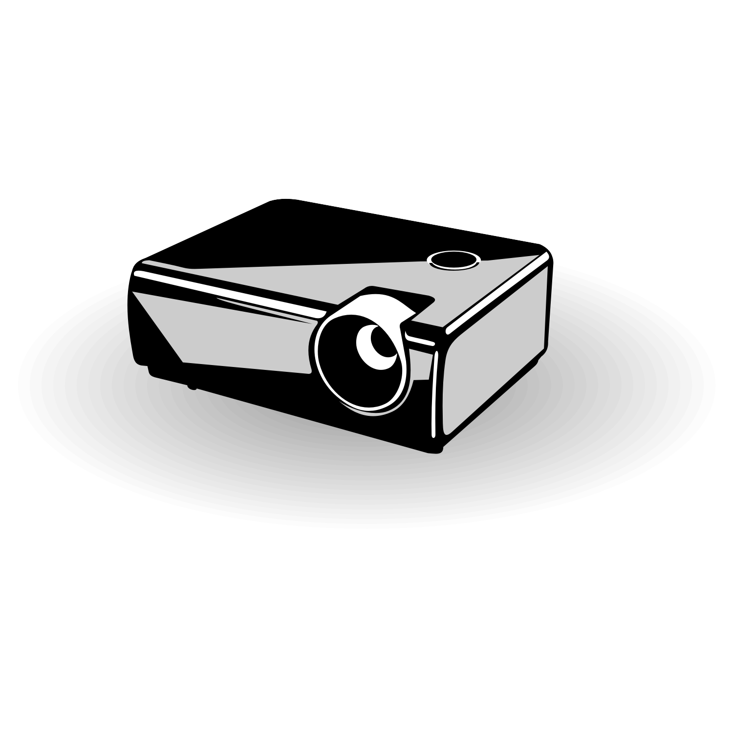 Multimedia projector. Free vector image.