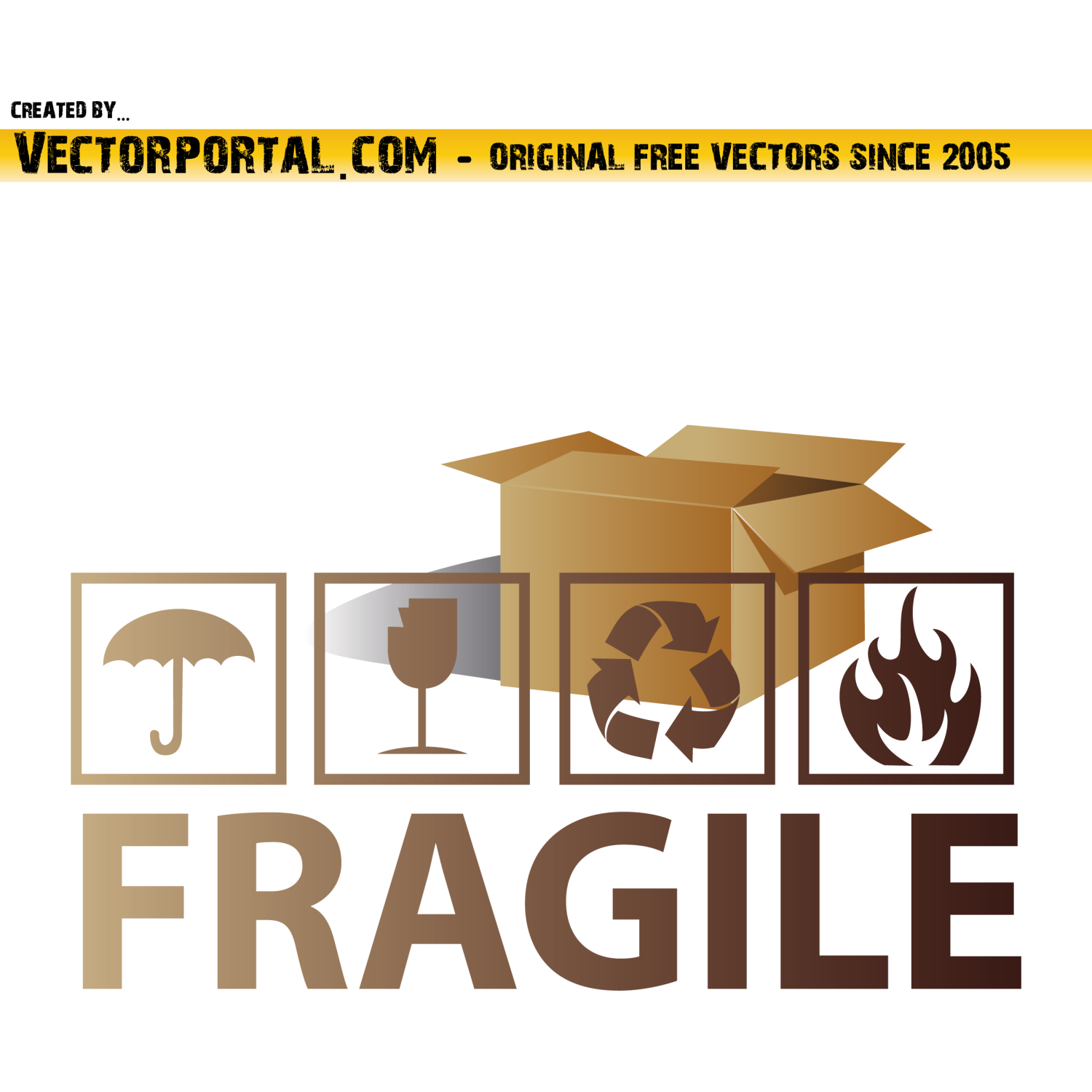 Vector for free use: Fragile Symbols Vector