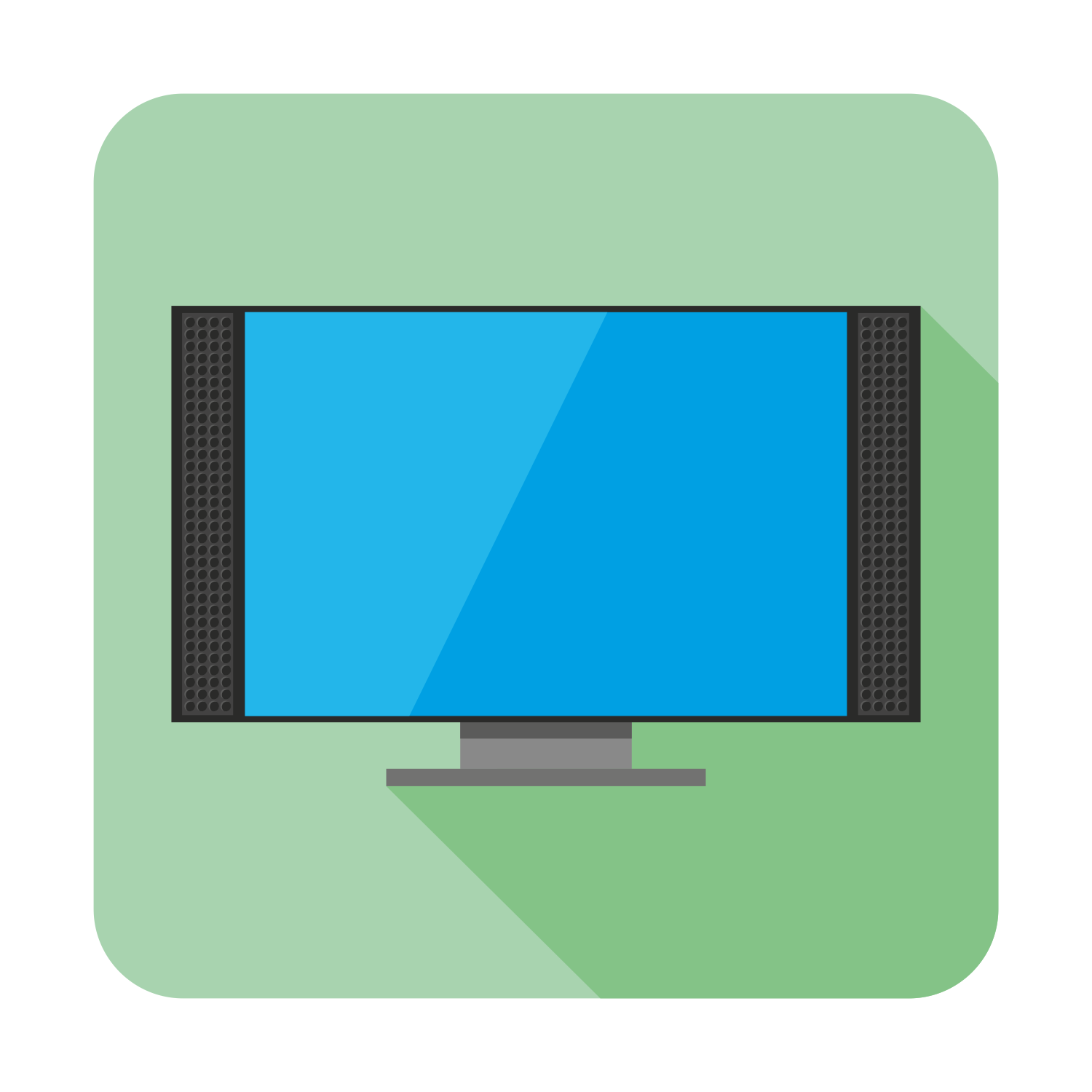 Draw Room Online Vector For Free Use Flat Tv Icon