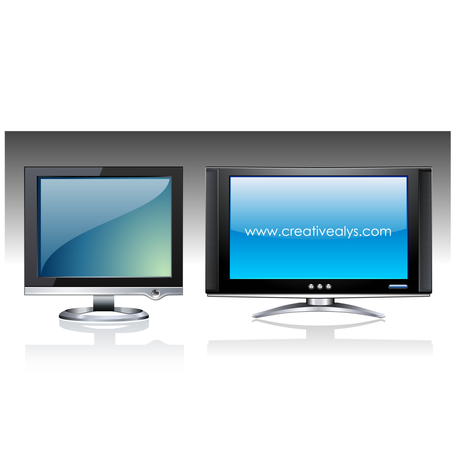 LCD in graphic design can be used for marketing a brand or a product. It can also be used as web design mockup to show how the website will look on LCD screen. Its in vector format, so you can customize it to your needs.