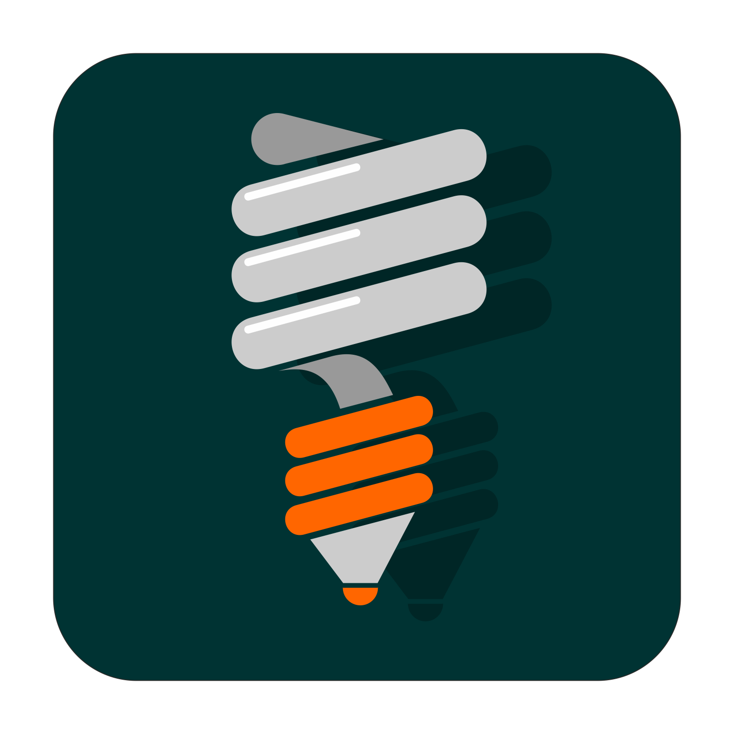 Energy saving lamp icon in vector