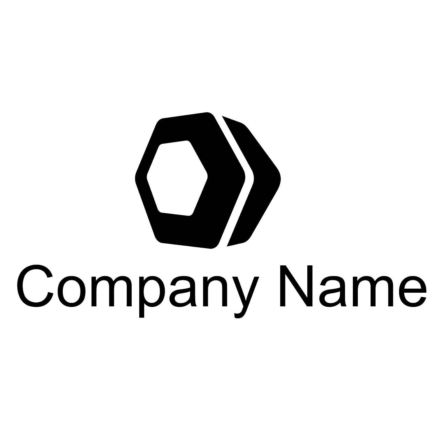 Hexagon logo vector