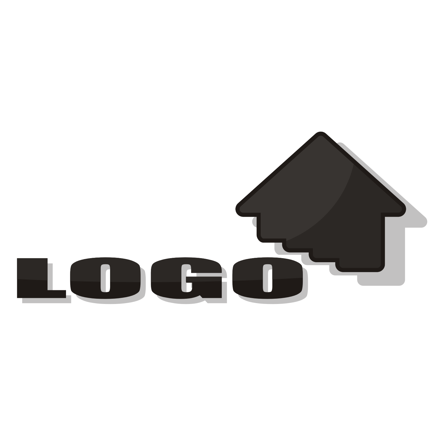 House for card or logo