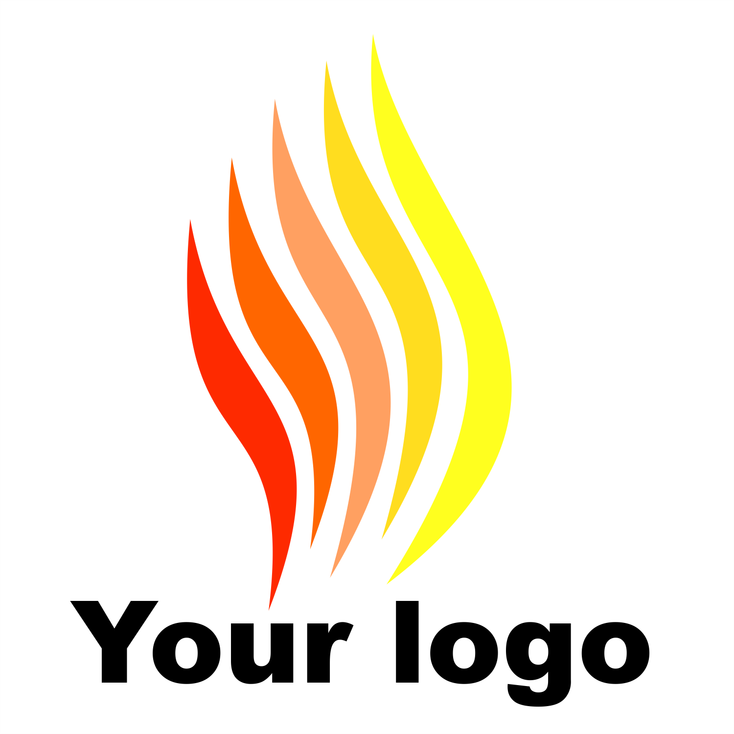 Logo fire. Free vector template.