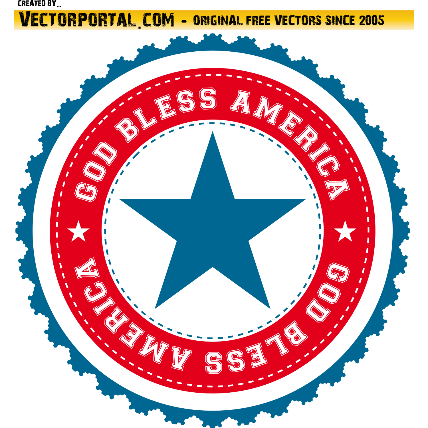 God Bless America Sticker