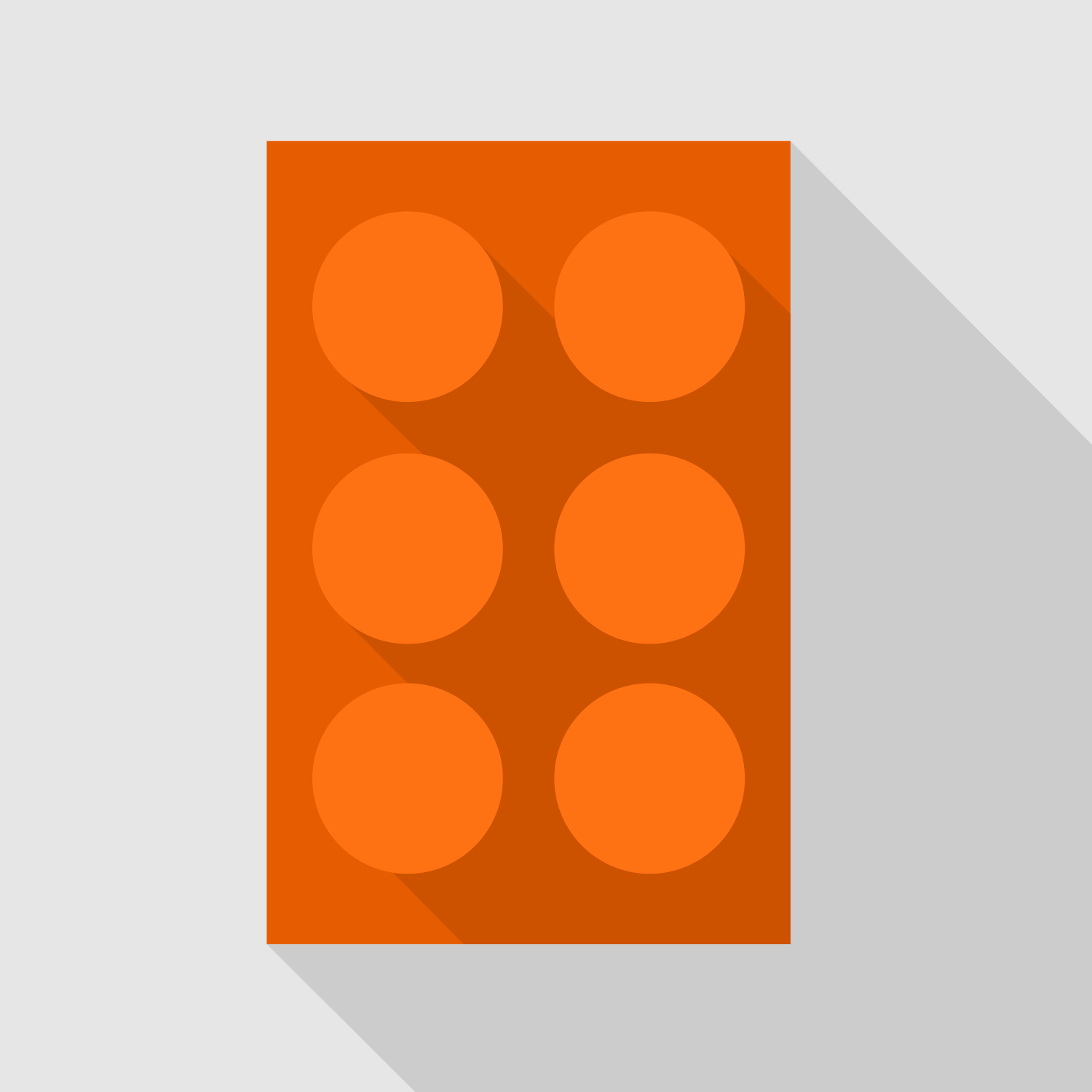 Vector for free use: Lego building block