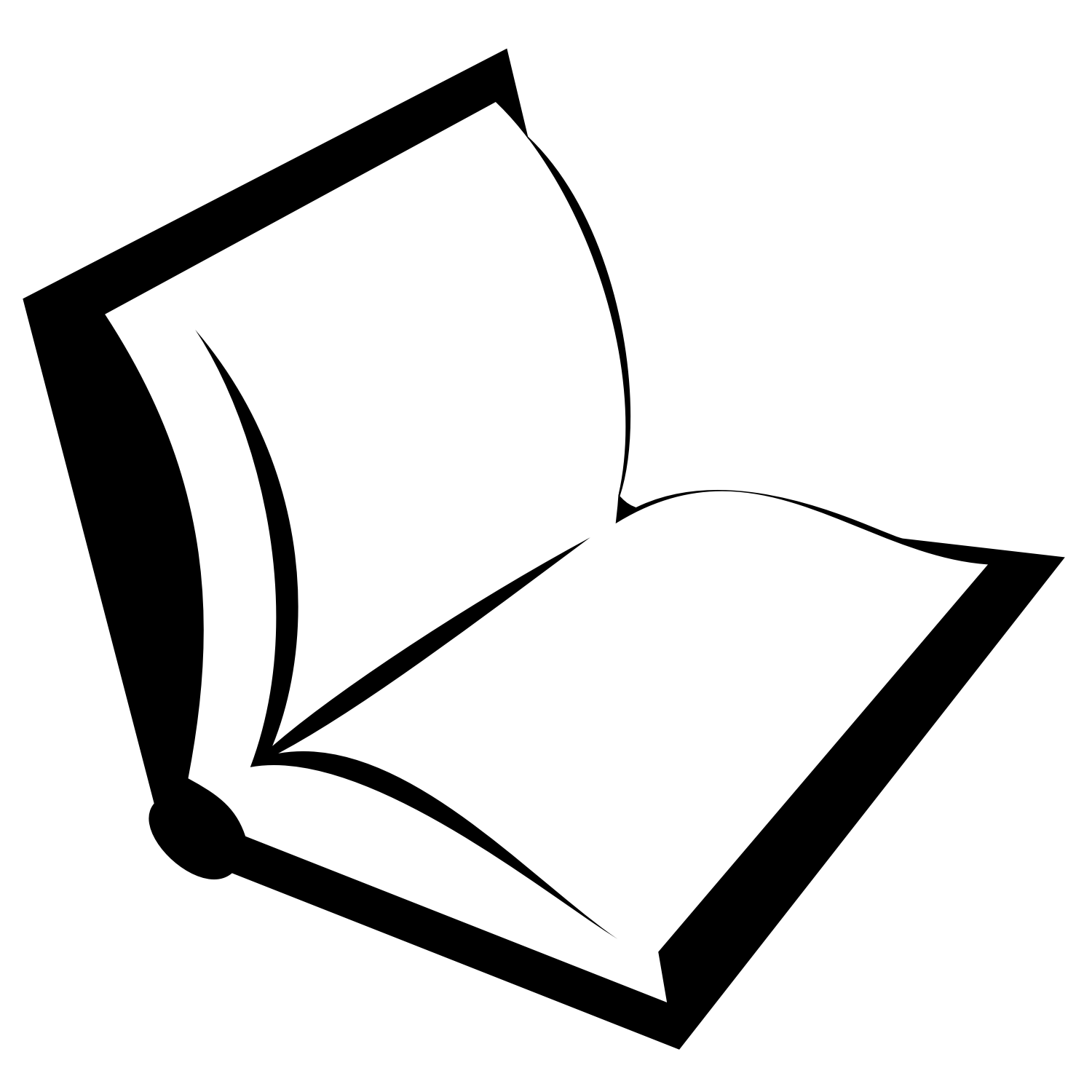 Black book. Free vector illustration.