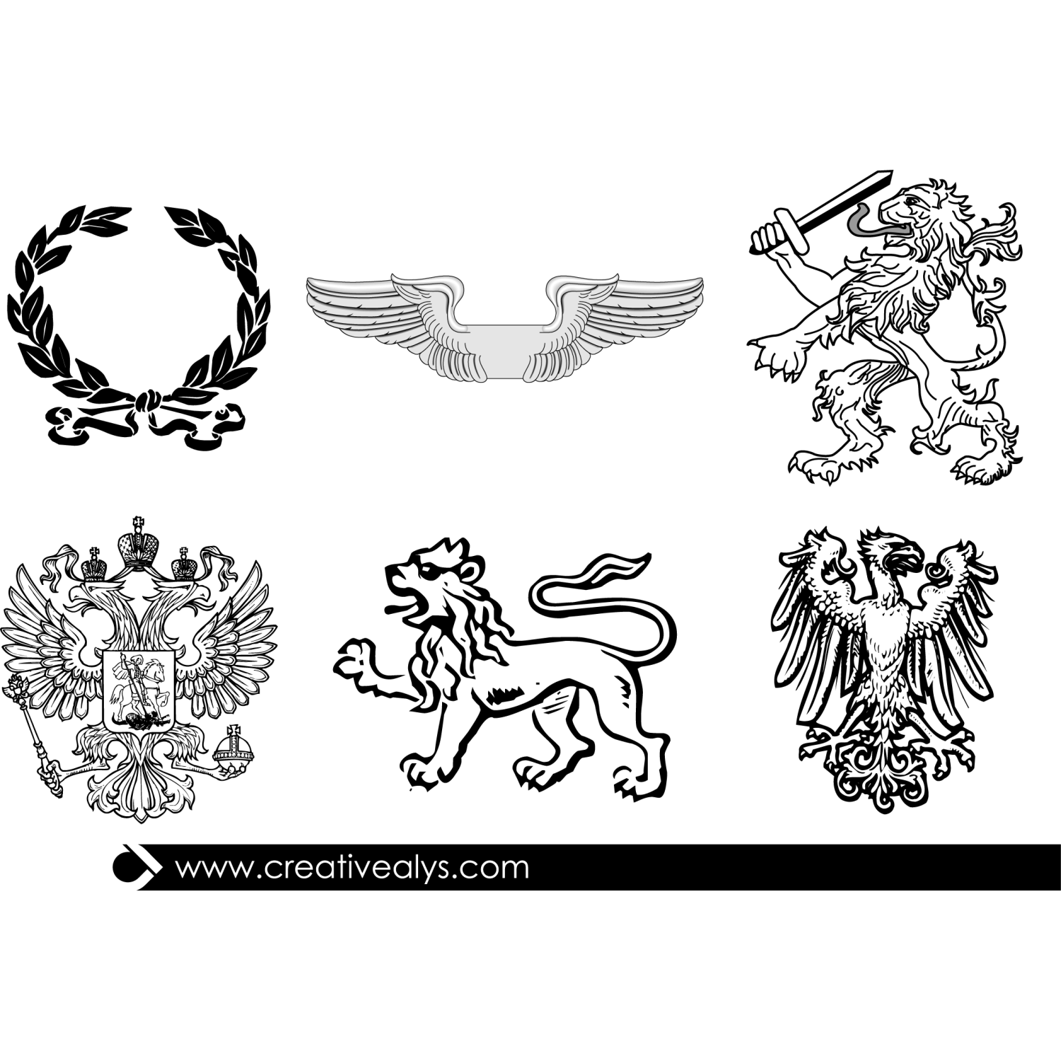 Heraldic Elements For Logo Design