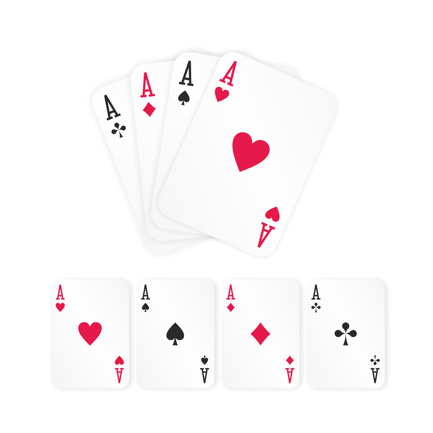 Playing Cards. Four Aces Poker.