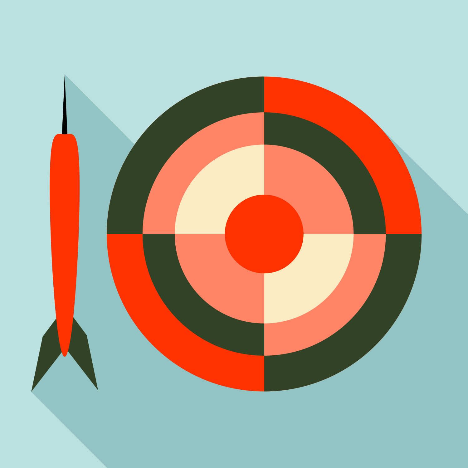 Darts. Flat Vector Graphics
