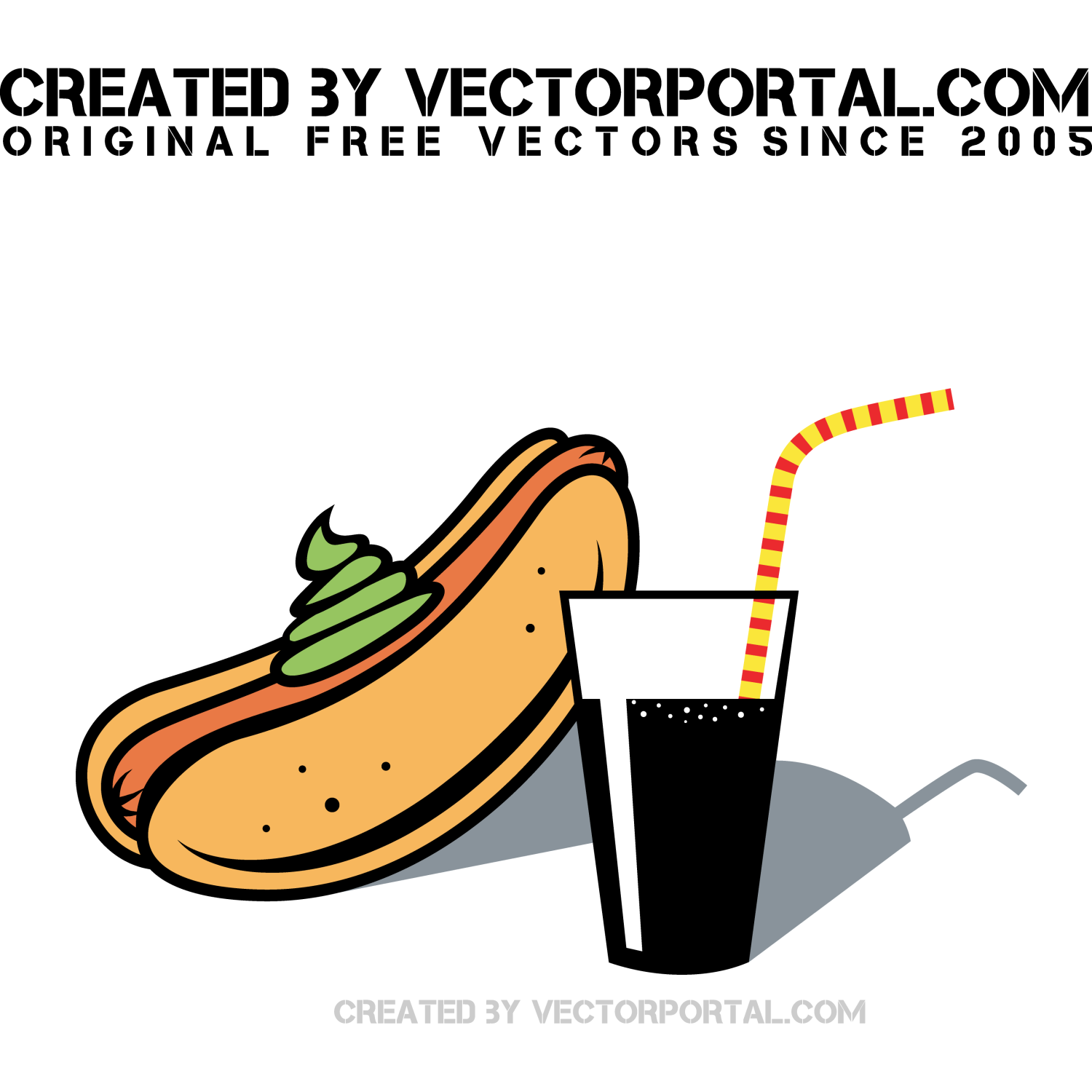 Hot dog vector graphics