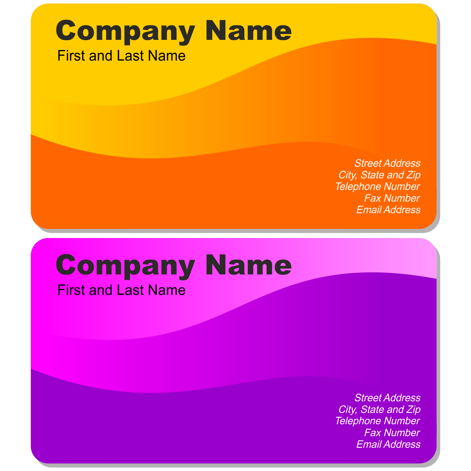 Vector for free use: Two beautiful business cards