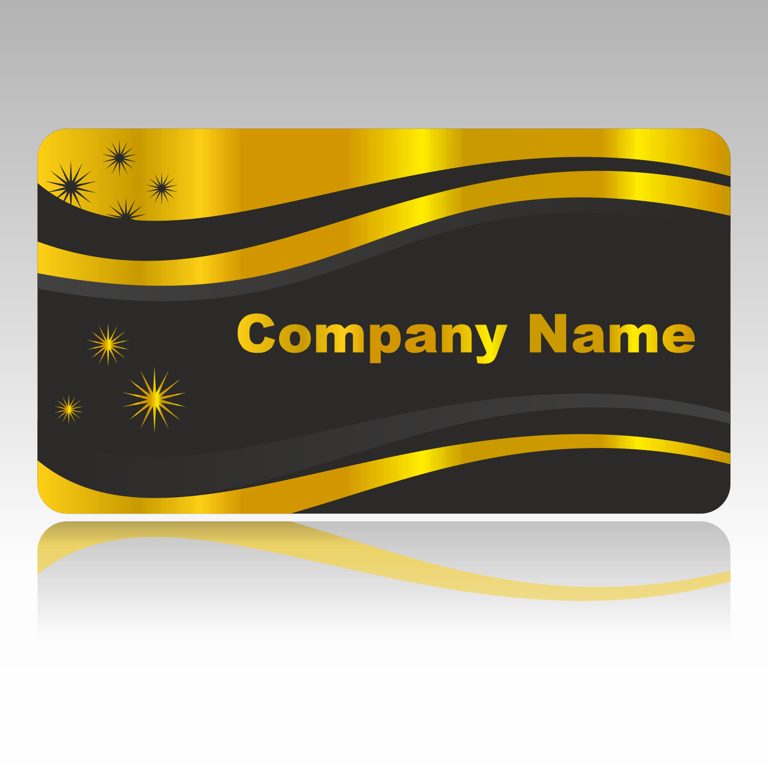 vector for free use golden business card