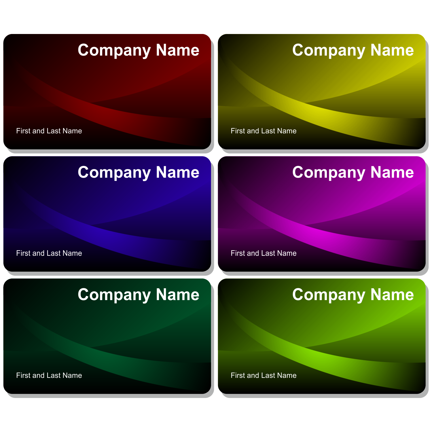 Download Free Vector Category Of Business Cards Page - Beautiful business card templates