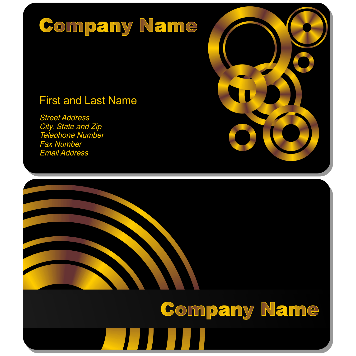 vector for free use black business card