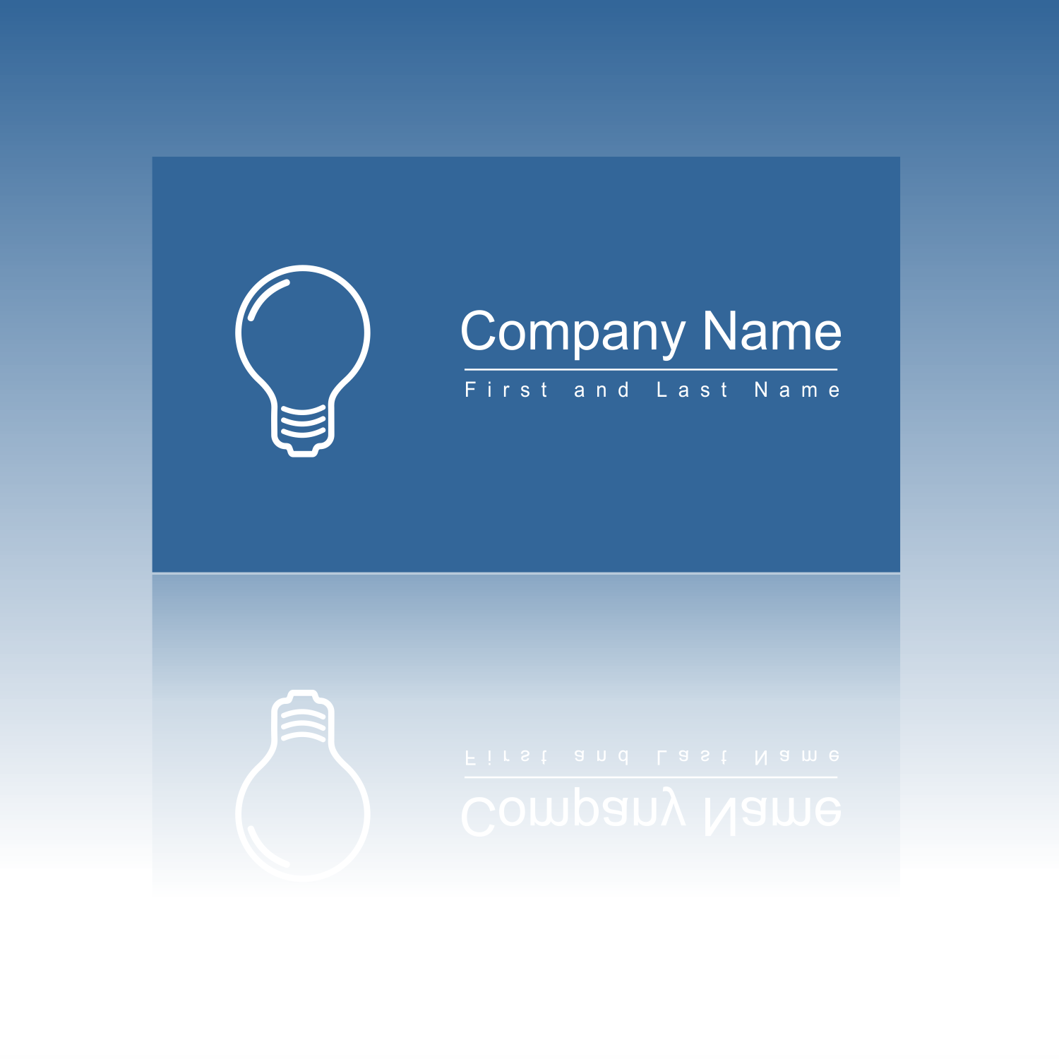vector for free use business card with light bulb