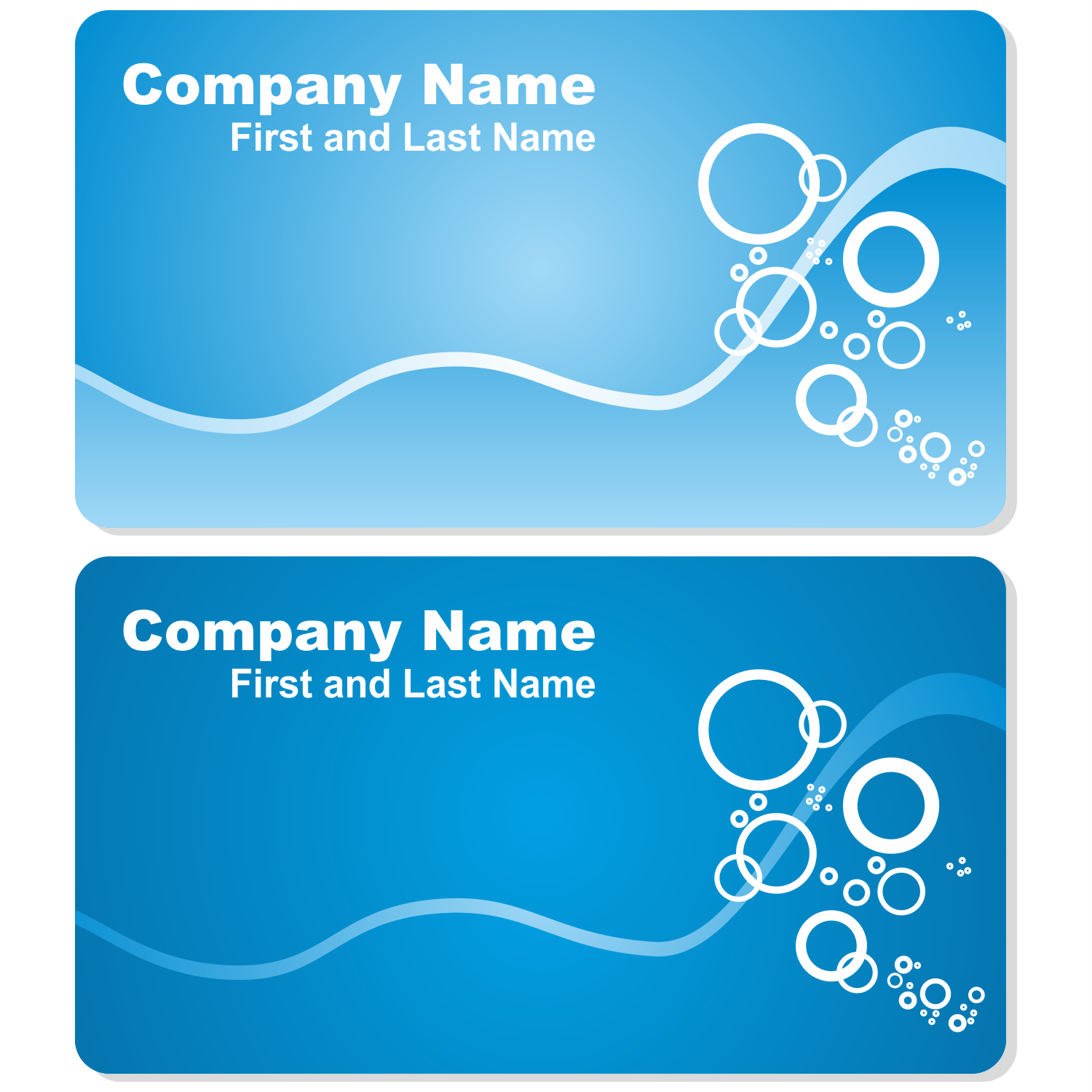 Vector for free use Sea business card set