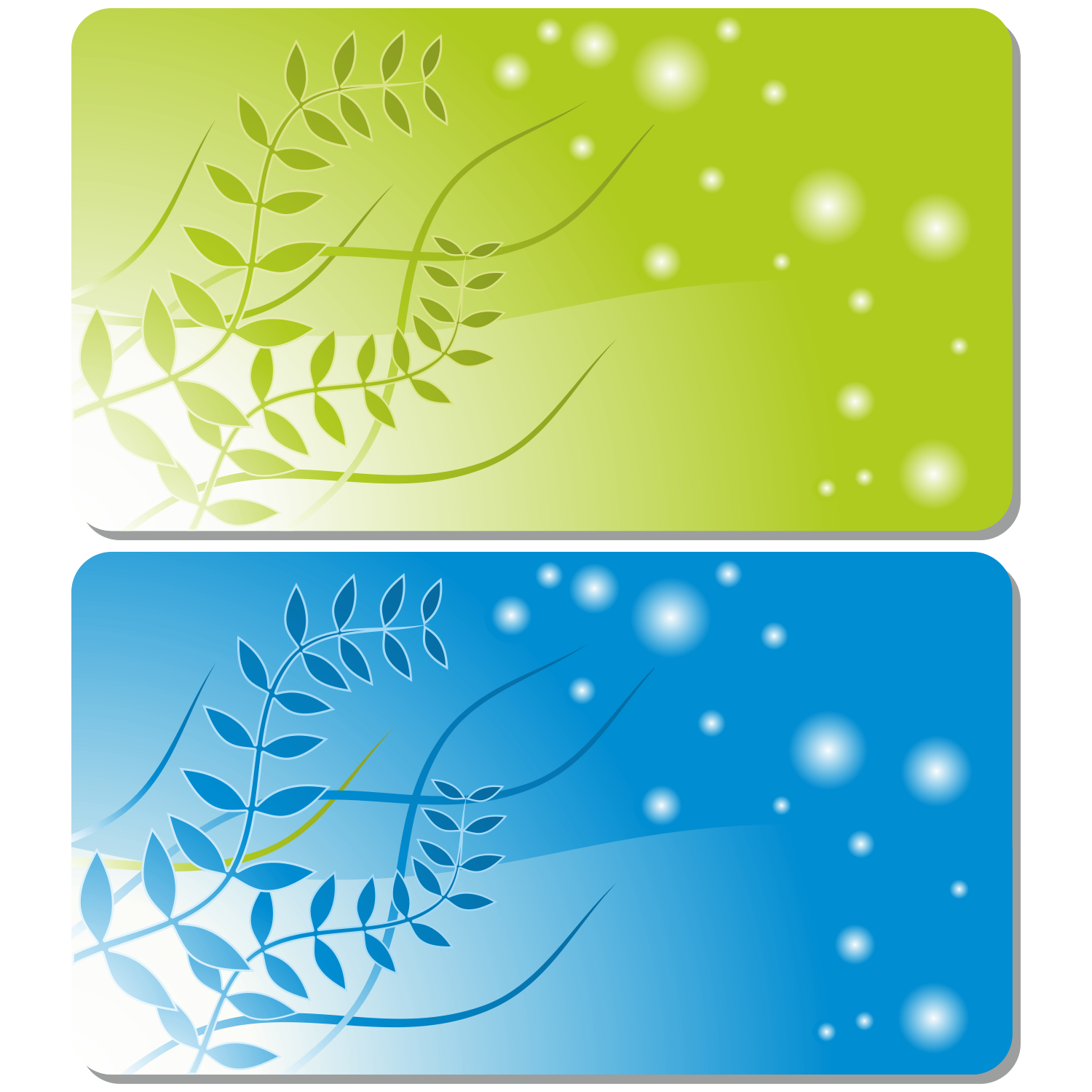 Vector for free use Gift or credit card templates