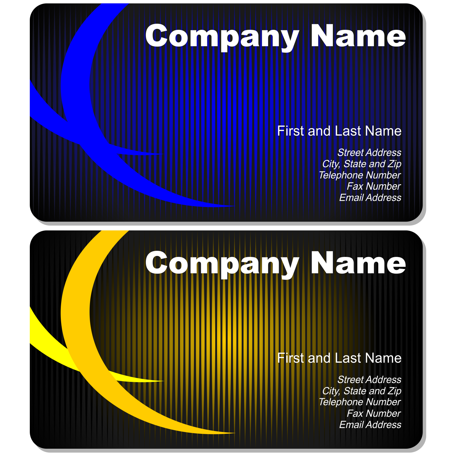 vector for free use set of artistic business cards