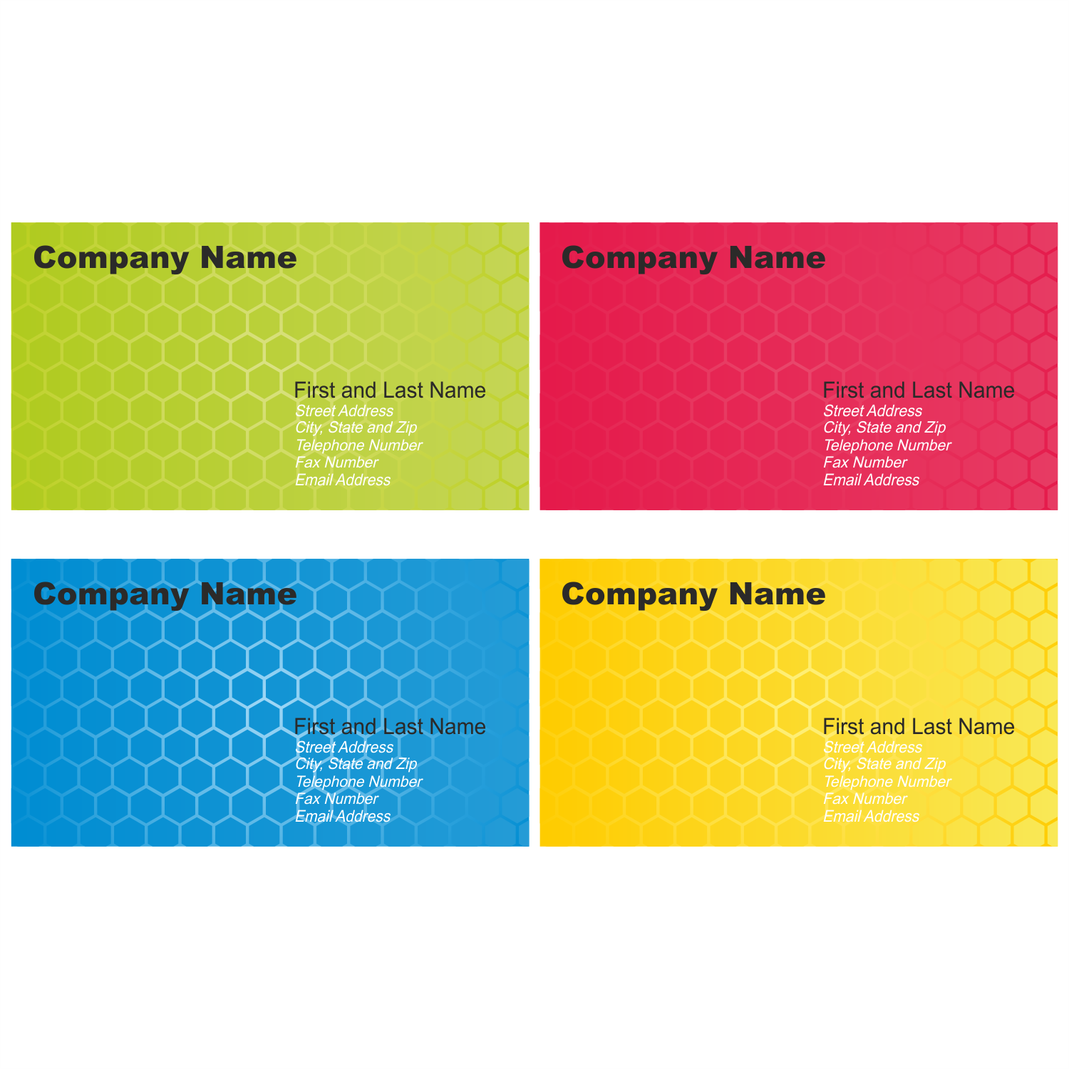 vector for free use set of business card designs