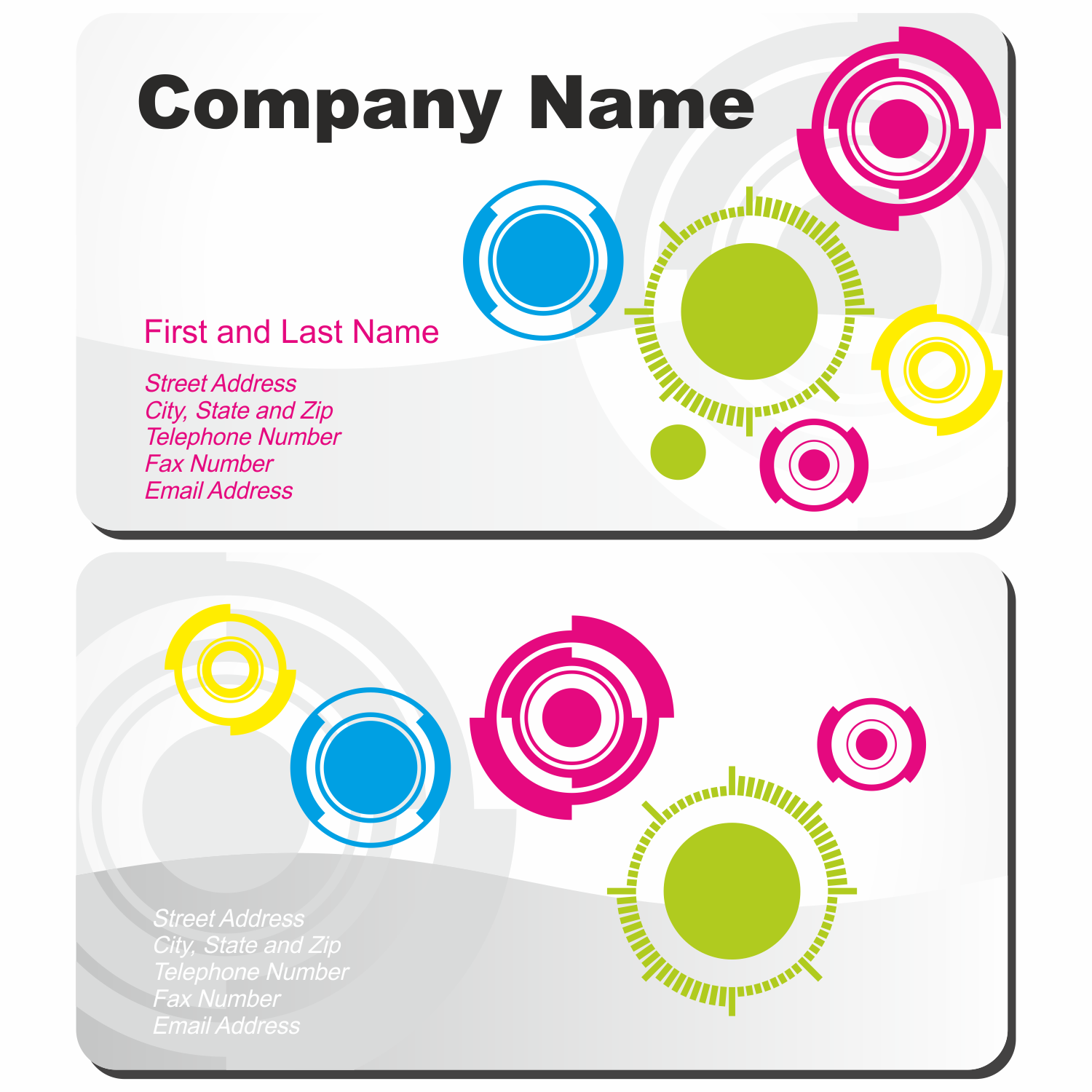 vector for free use circle design background business card