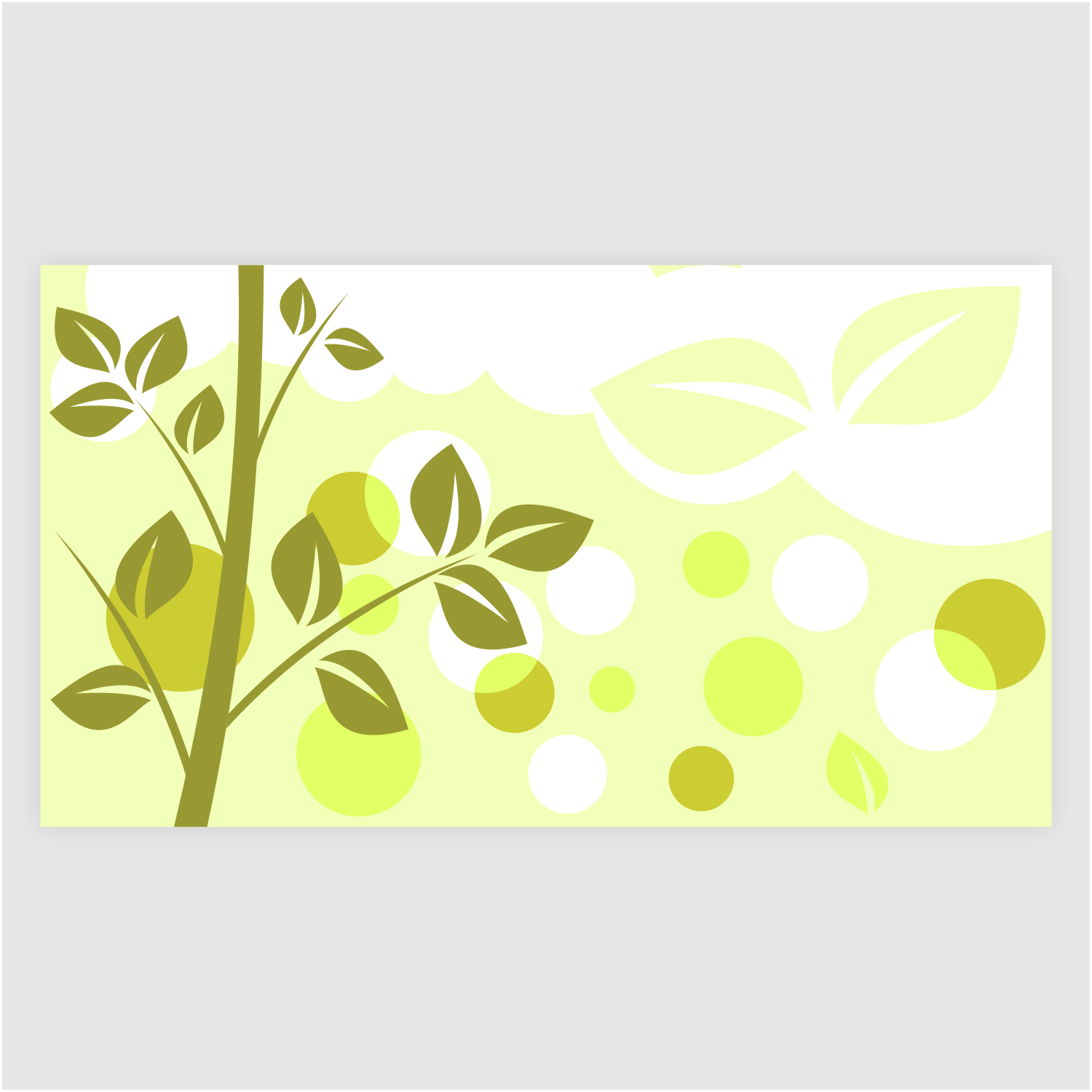 Vector for free use: Gift card with nature background