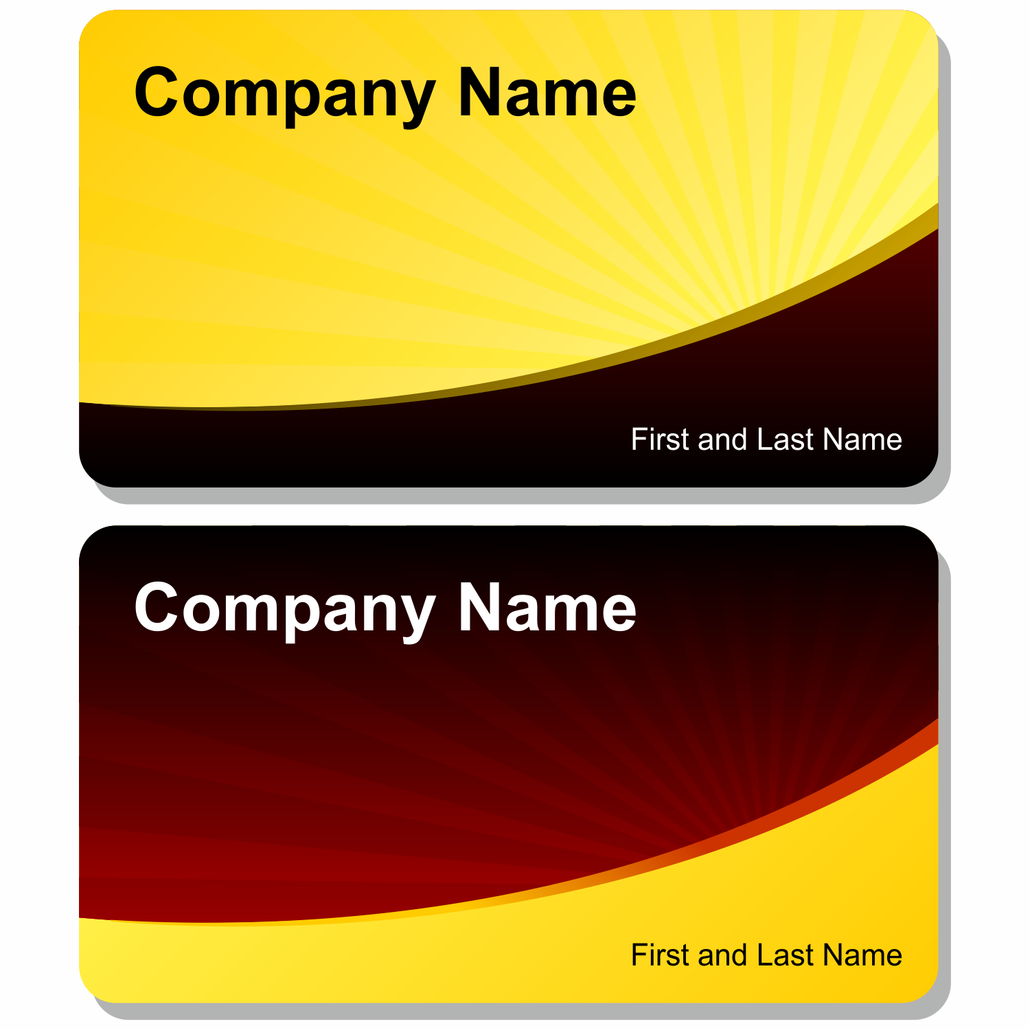 vector for free use solar business card