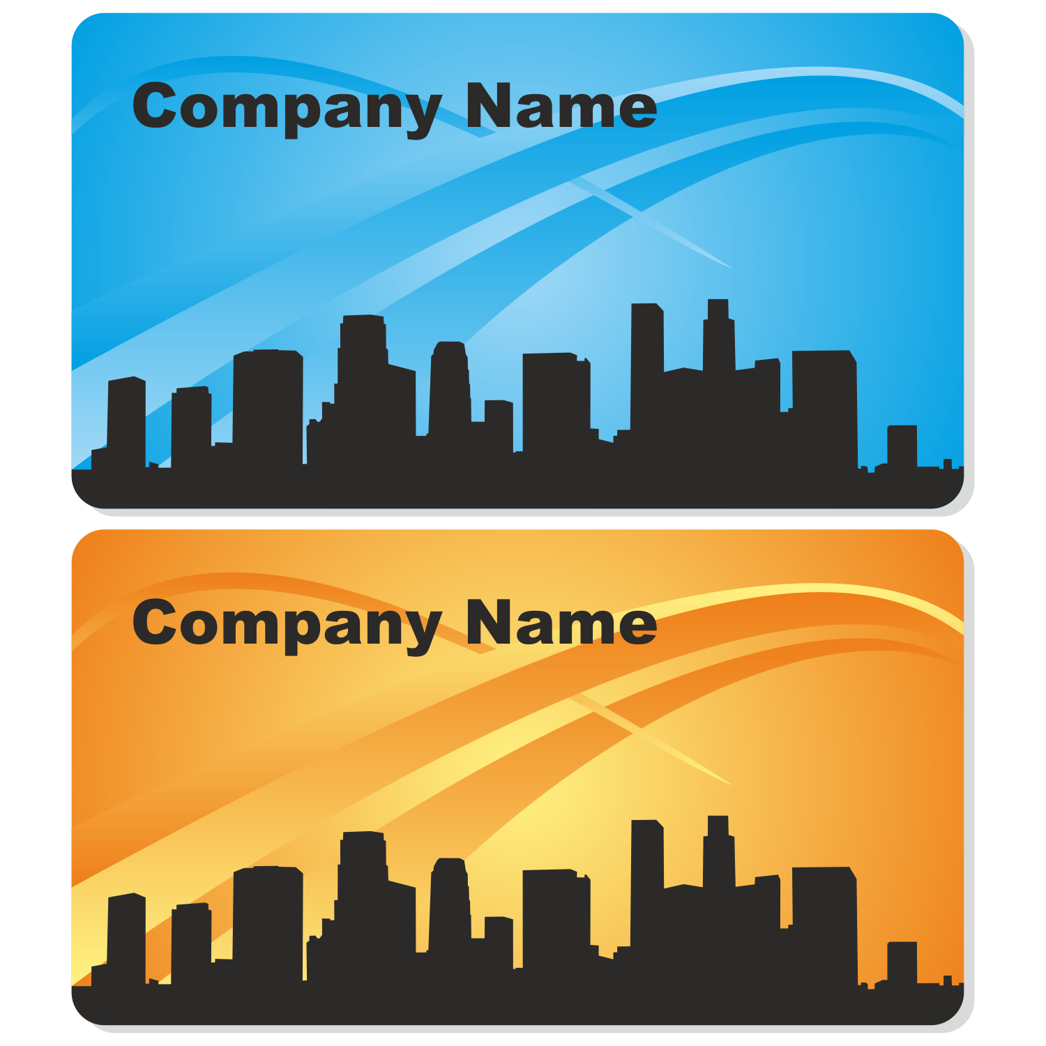 Vector for free use: City business card design