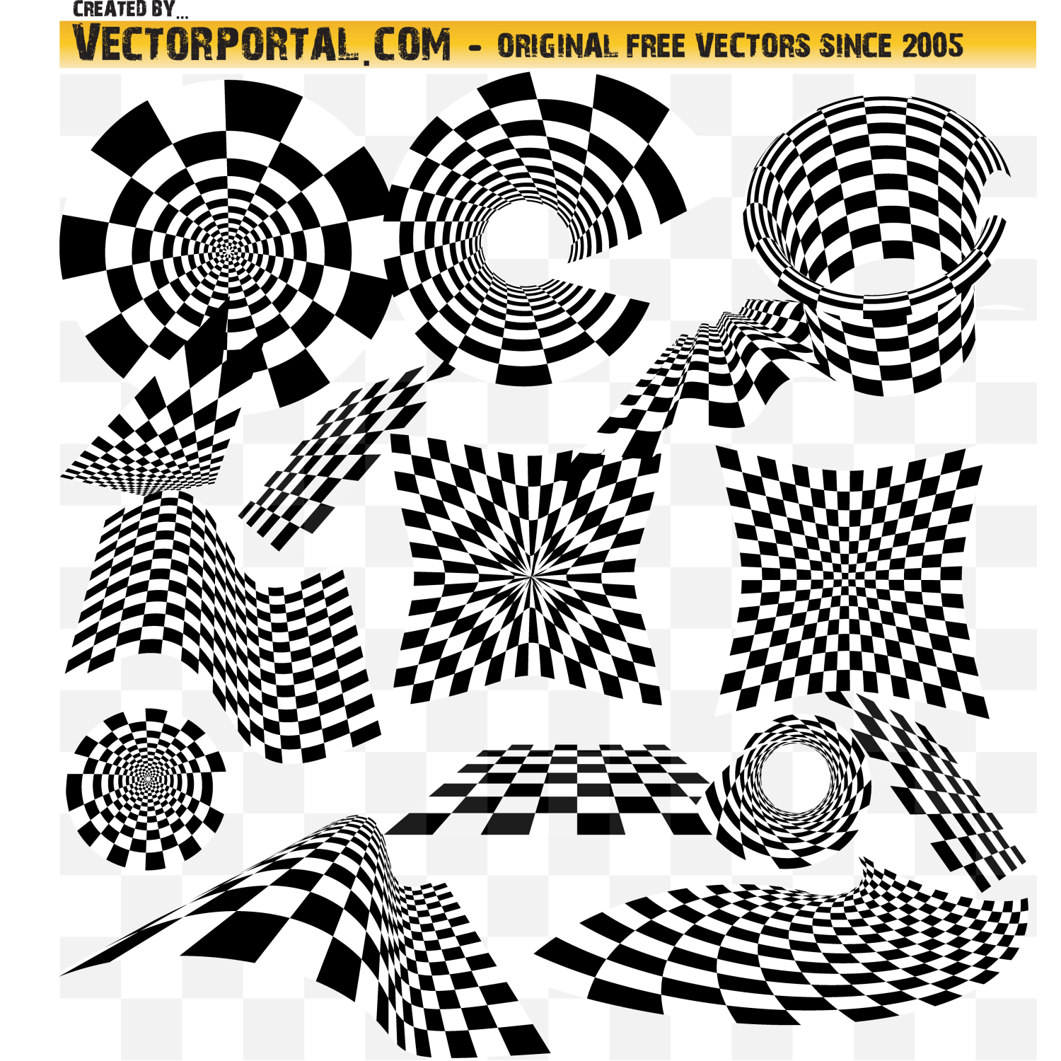 Checkered Vector Objects