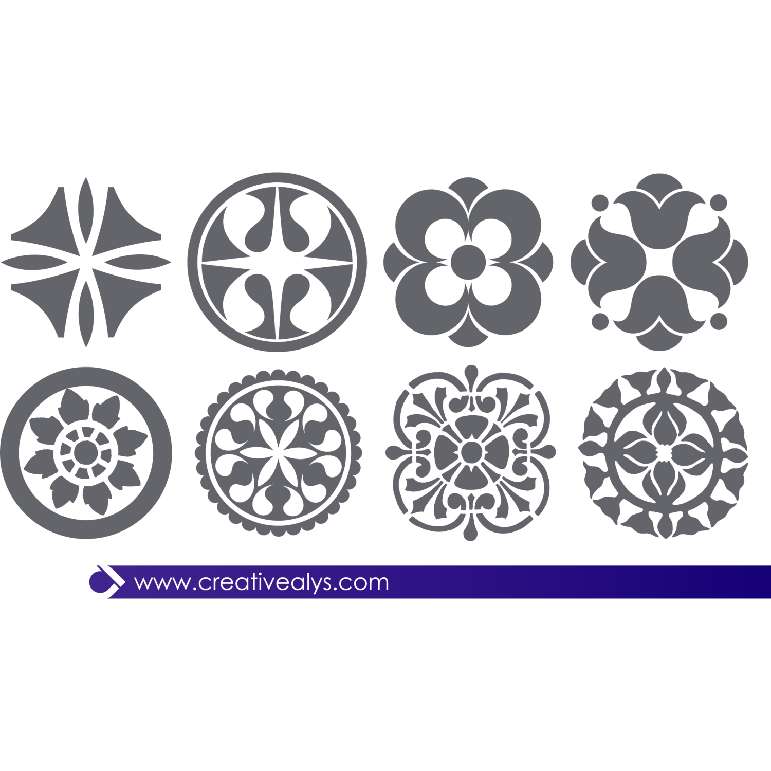 Vector for free use abstract floral design elements - Design elementi ...