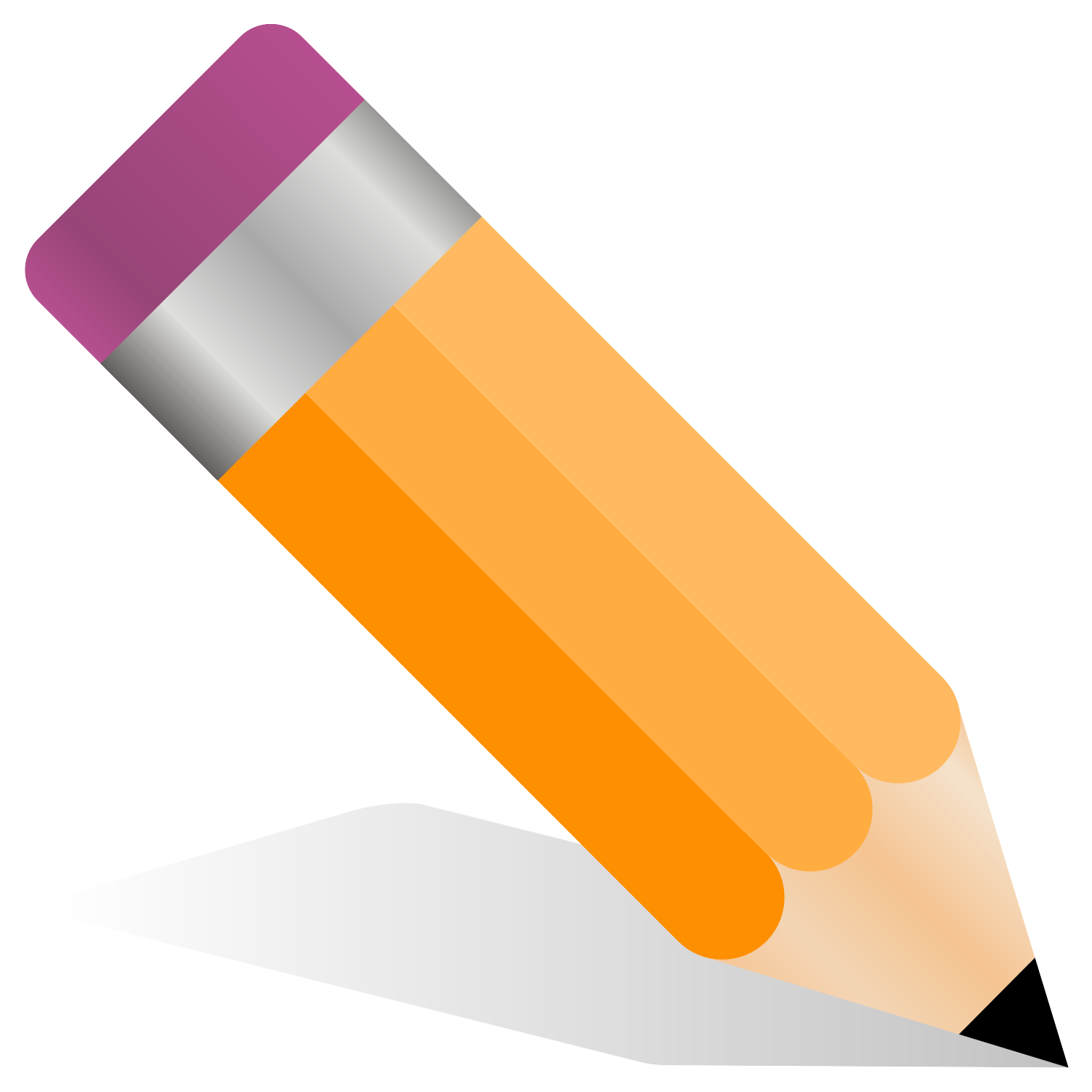 Vector illustration of a pencil.