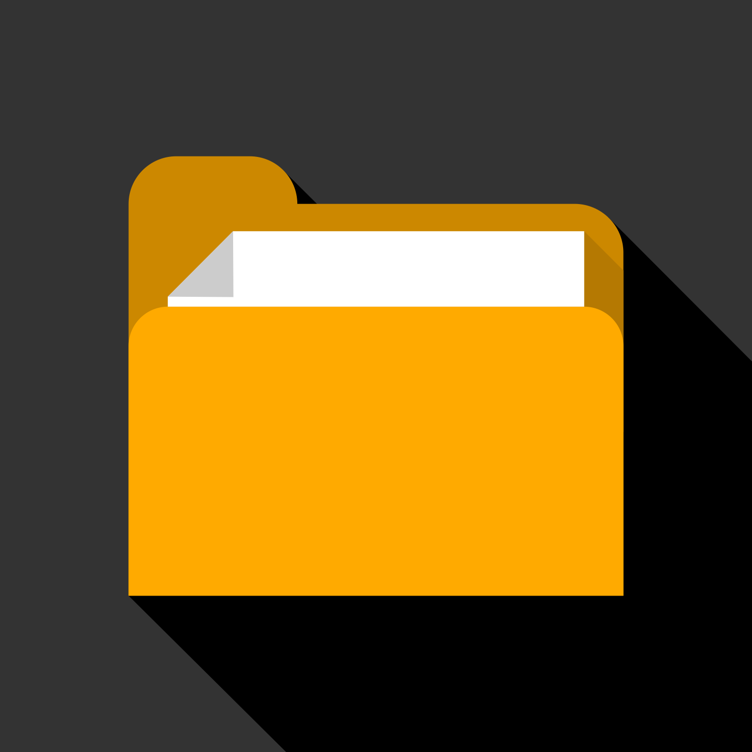 Folder with Paper. Vector Flat Illustration
