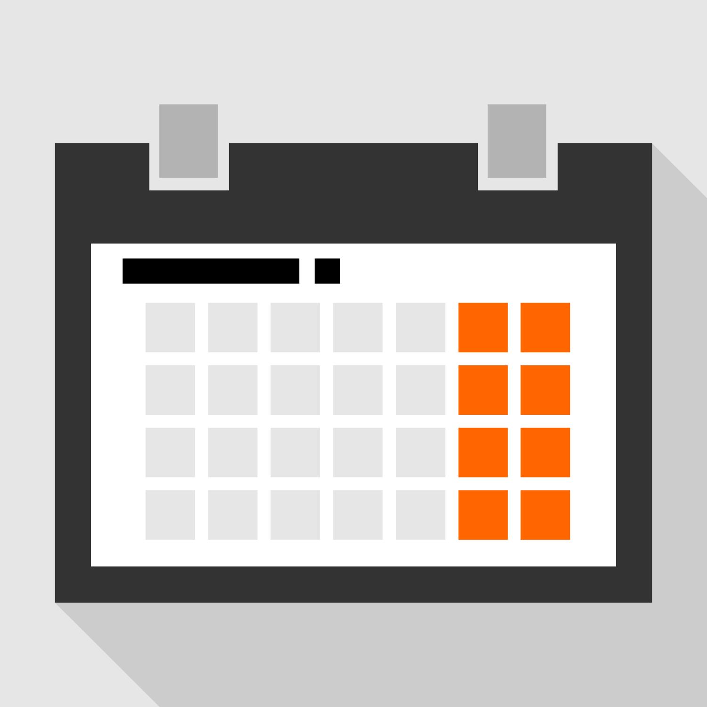 Calendar Day Vector Art : Vector for free use flat calendar
