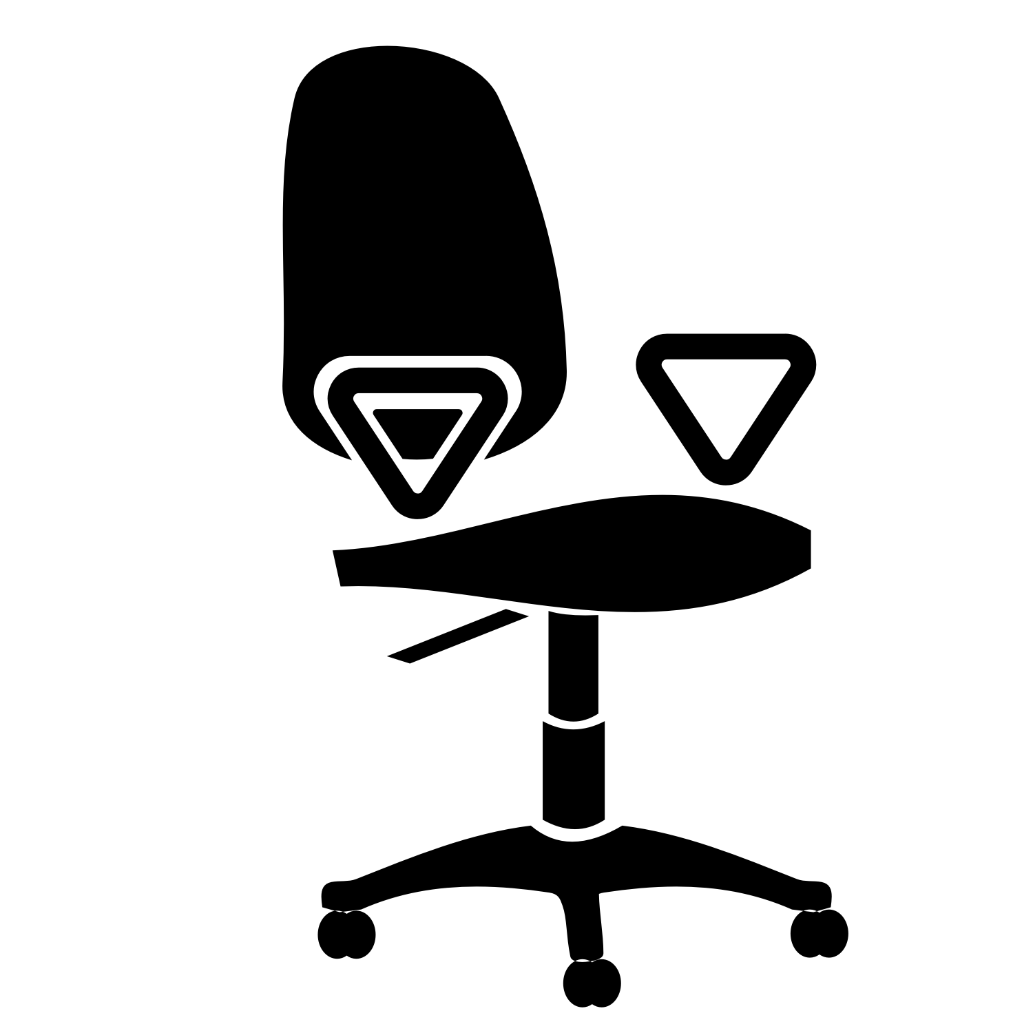 Vector image office chair with a white background.