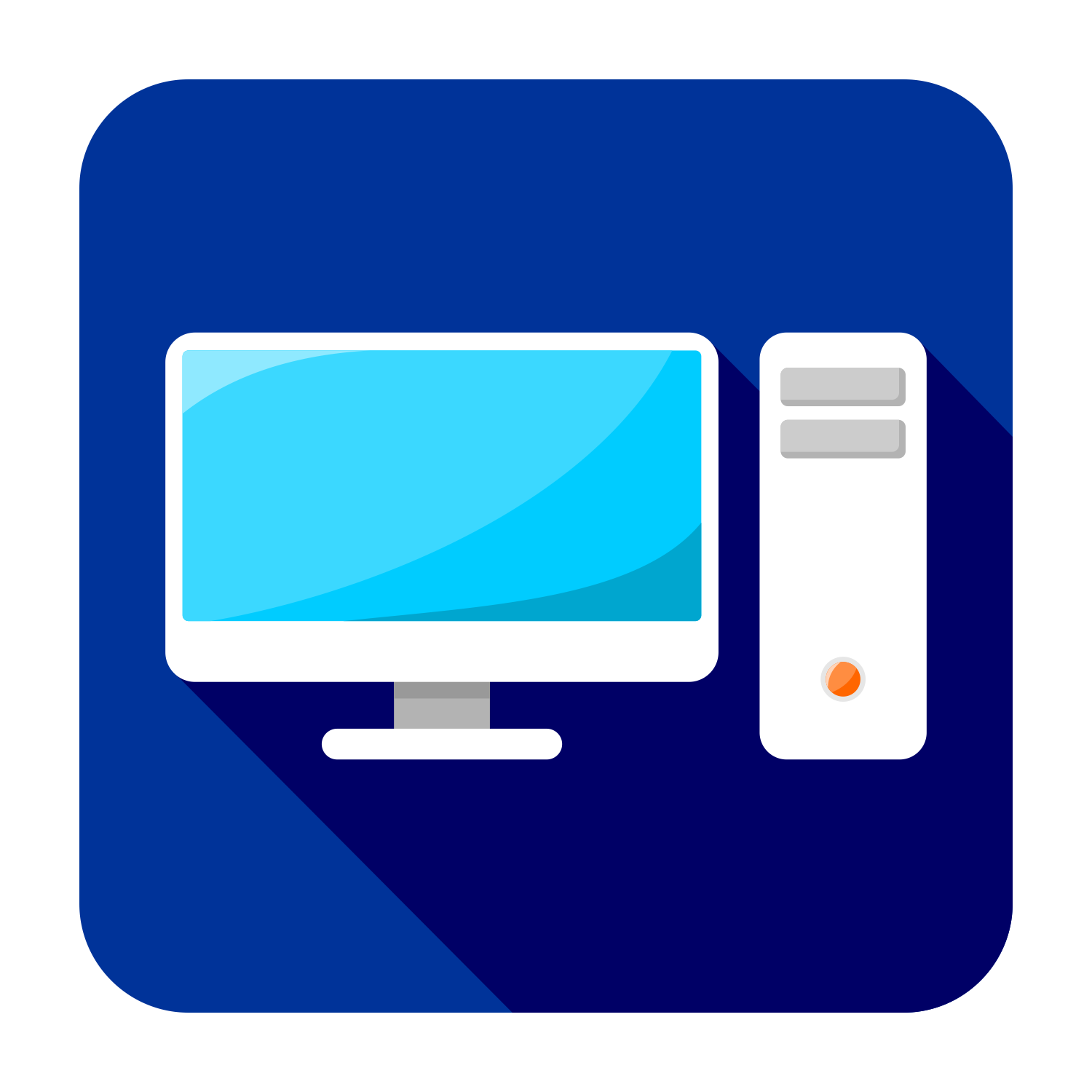 vector for free use flat pc icon rh shmector com