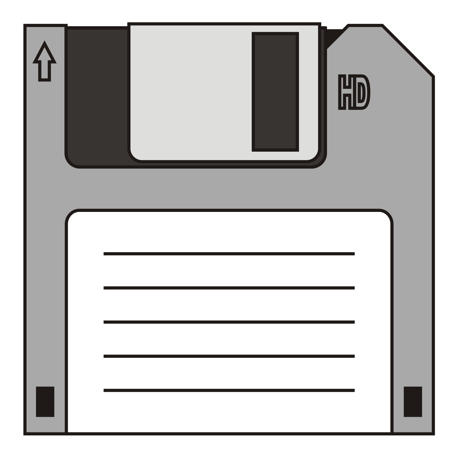 Floppy disk for reading or writing computer data